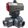 Air Actuated PVC 3-Way Ball Valves- Scotch Yoke