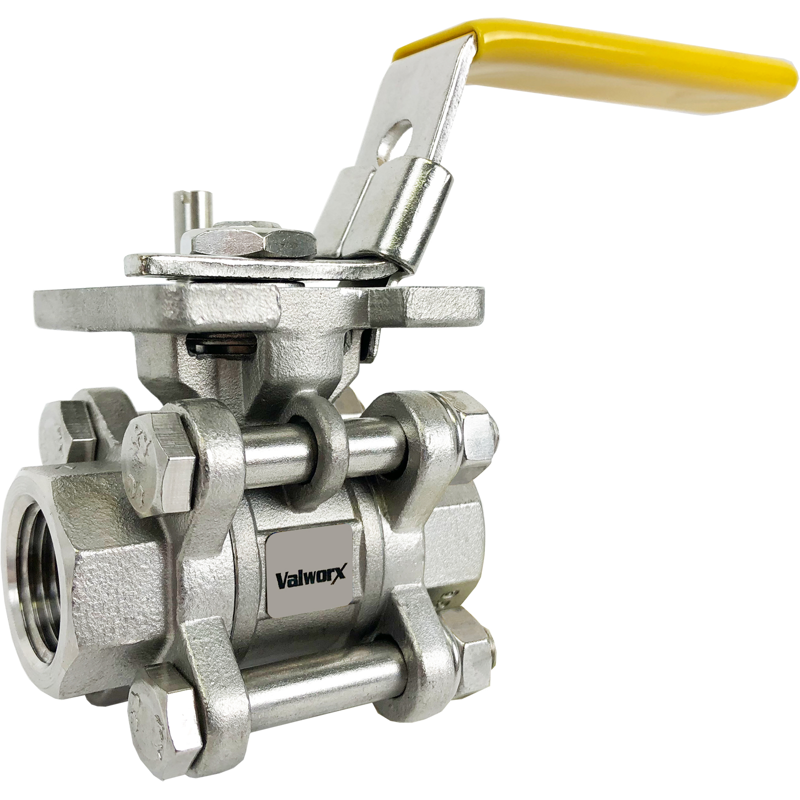 """3/8"""" 3-Piece Stainless Ball Valve - Direct Mount"""