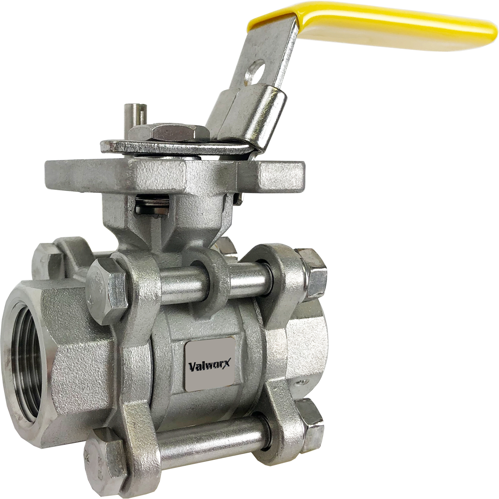 """3/4"""" 3-Piece Stainless Ball Valve - Direct Mount"""