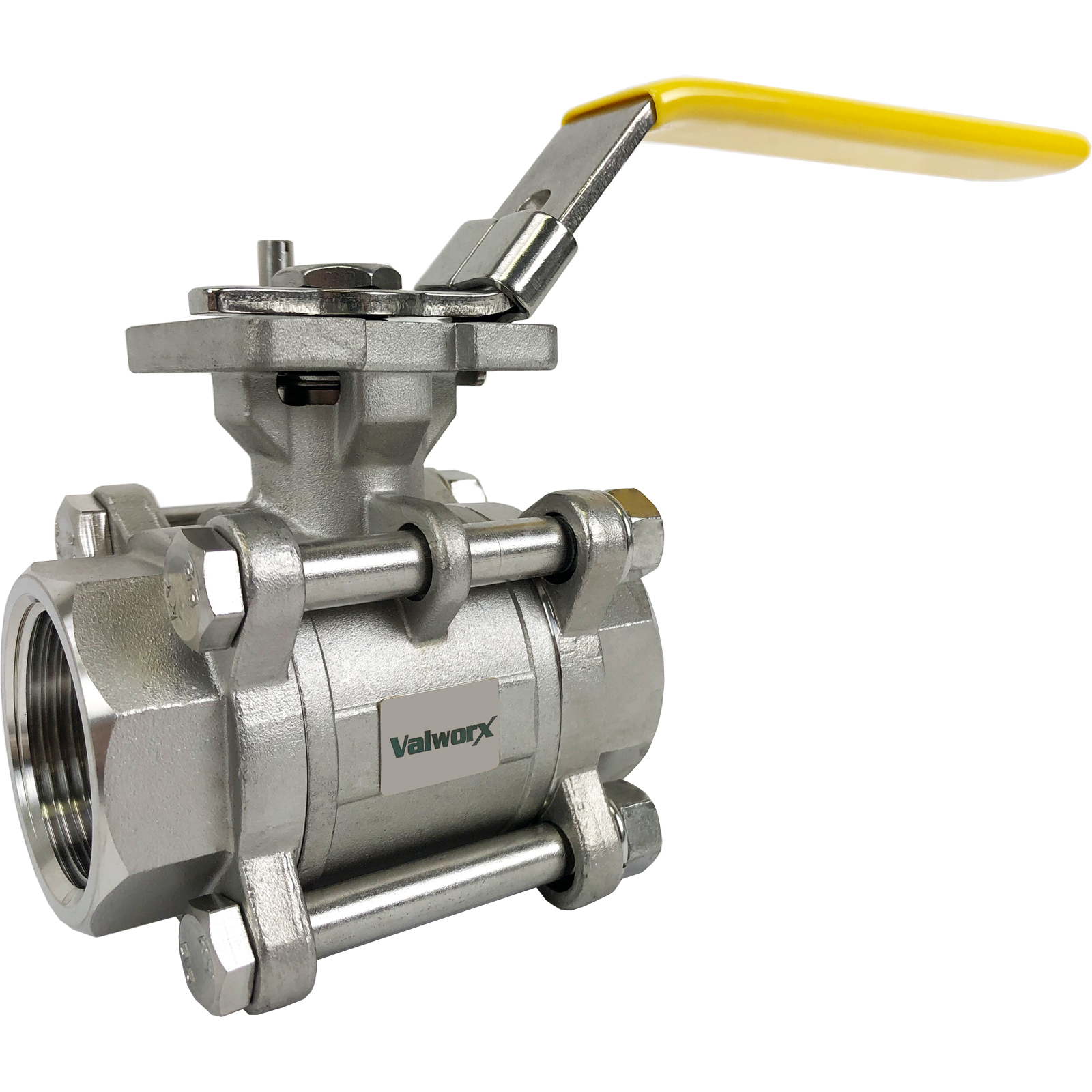 """1-1/4"""" 3-Piece Stainless Ball Valve - Direct Mount"""