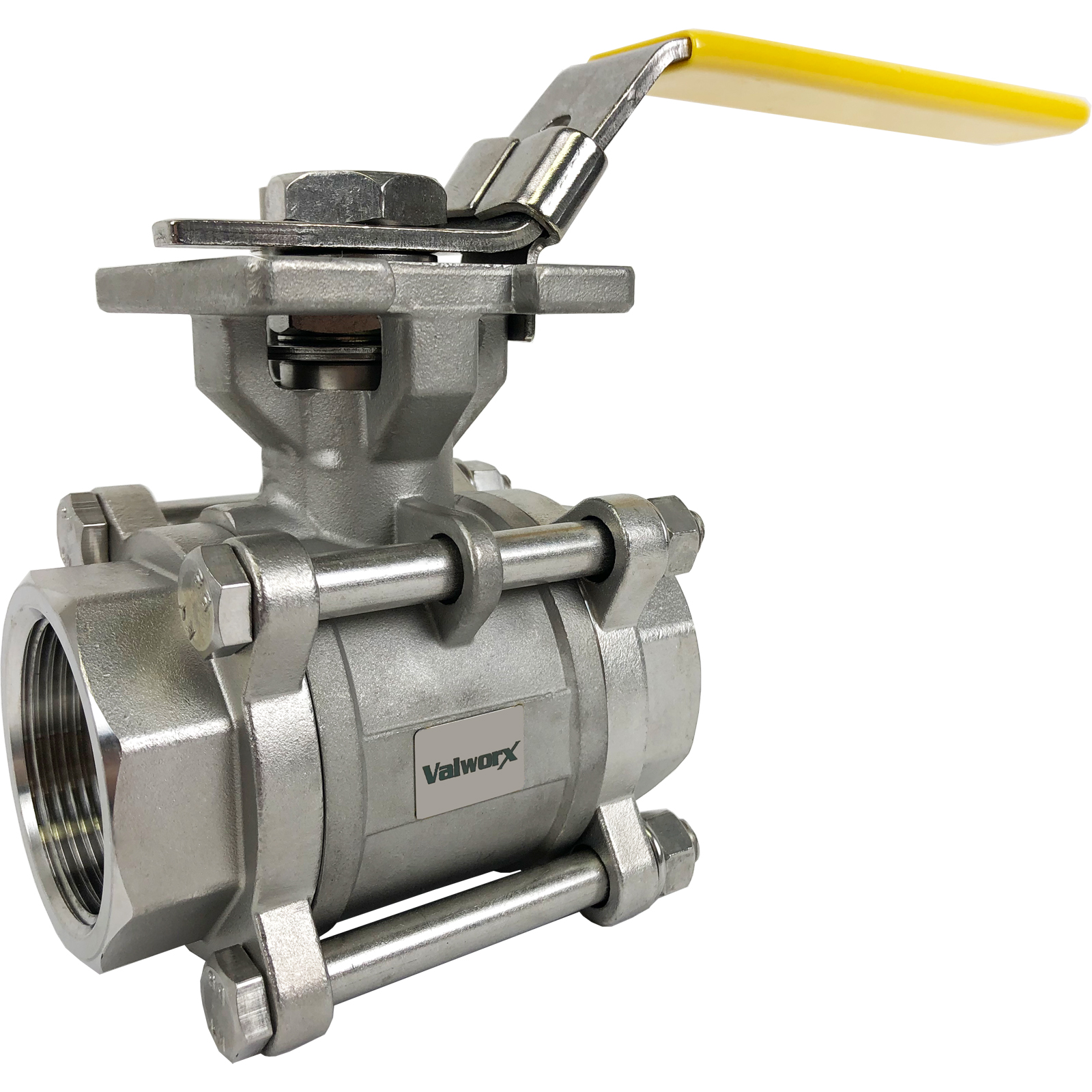 """1-1/2"""" 3-Piece Stainless Ball Valve - Direct Mount"""