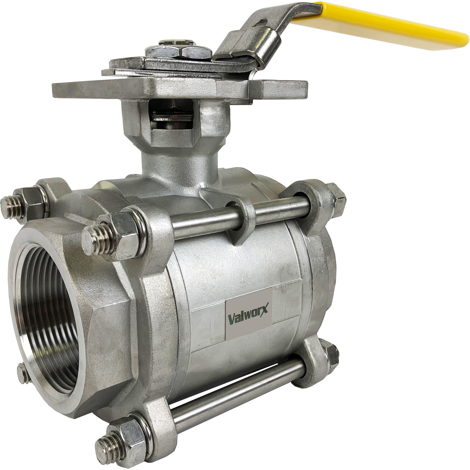"""2-1/2"""" 3-Piece Stainless Ball Valve - Direct Mount"""