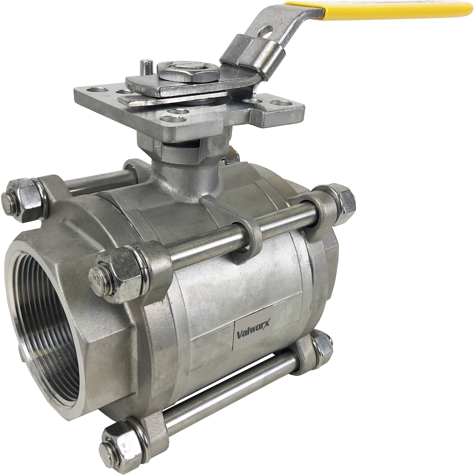 """3"""" 3-Piece Stainless Ball Valve - Direct Mount"""