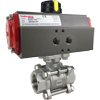 Air Actuated 3-Piece Stainless Ball Valves- Scotch Yoke