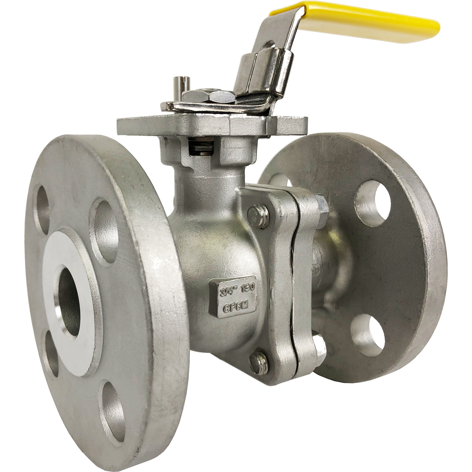 """3/4"""" Stainless ANSI 150# Flanged Ball Valve - ISO Direct Mount"""