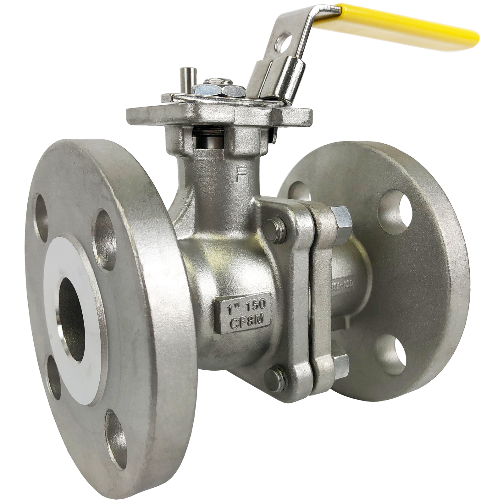 """1"""" Stainless ANSI 150# Flanged Ball Valve - ISO Direct Mount"""