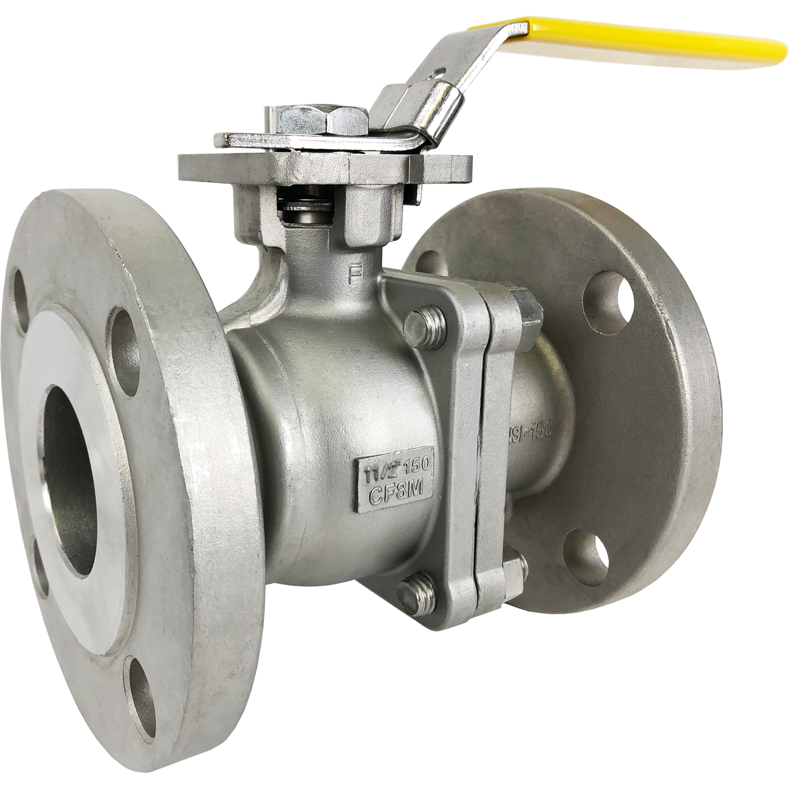 "1-1/2"" Stainless ANSI 150# Flanged Ball Valve - ISO Direct Mount"