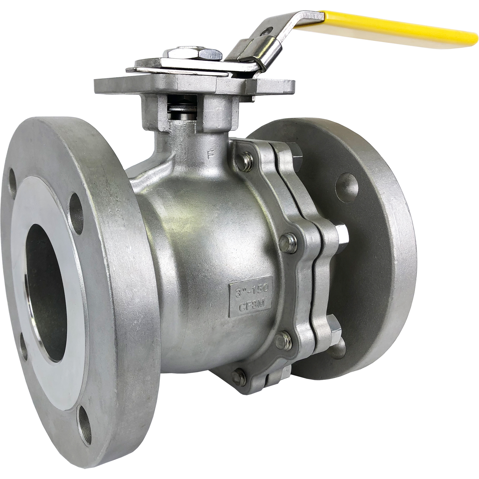 """3"""" Stainless ANSI 150# Flanged Ball Valve - ISO Direct Mount"""