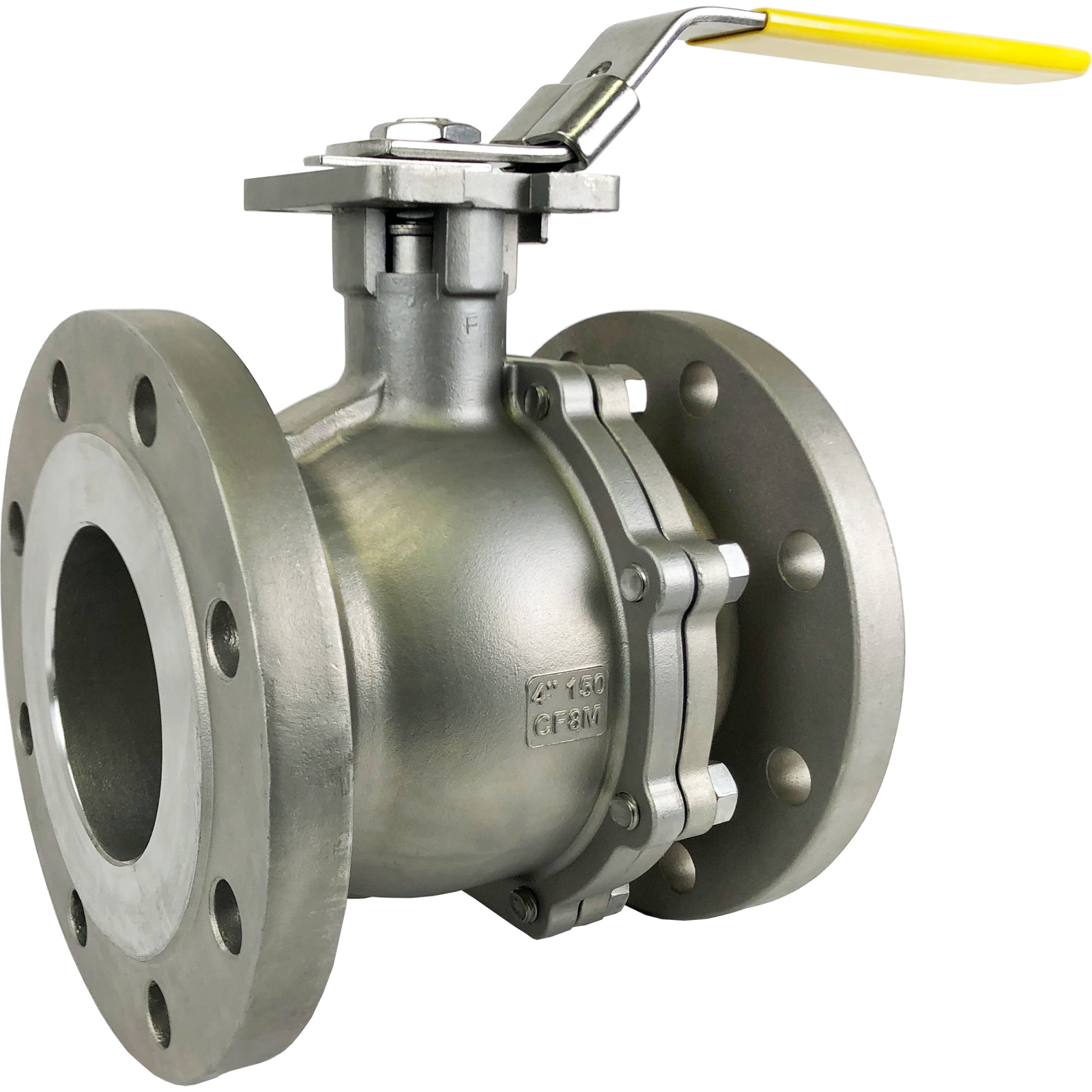 """4"""" Stainless ANSI 150# Flanged Ball Valve - ISO Direct Mount"""