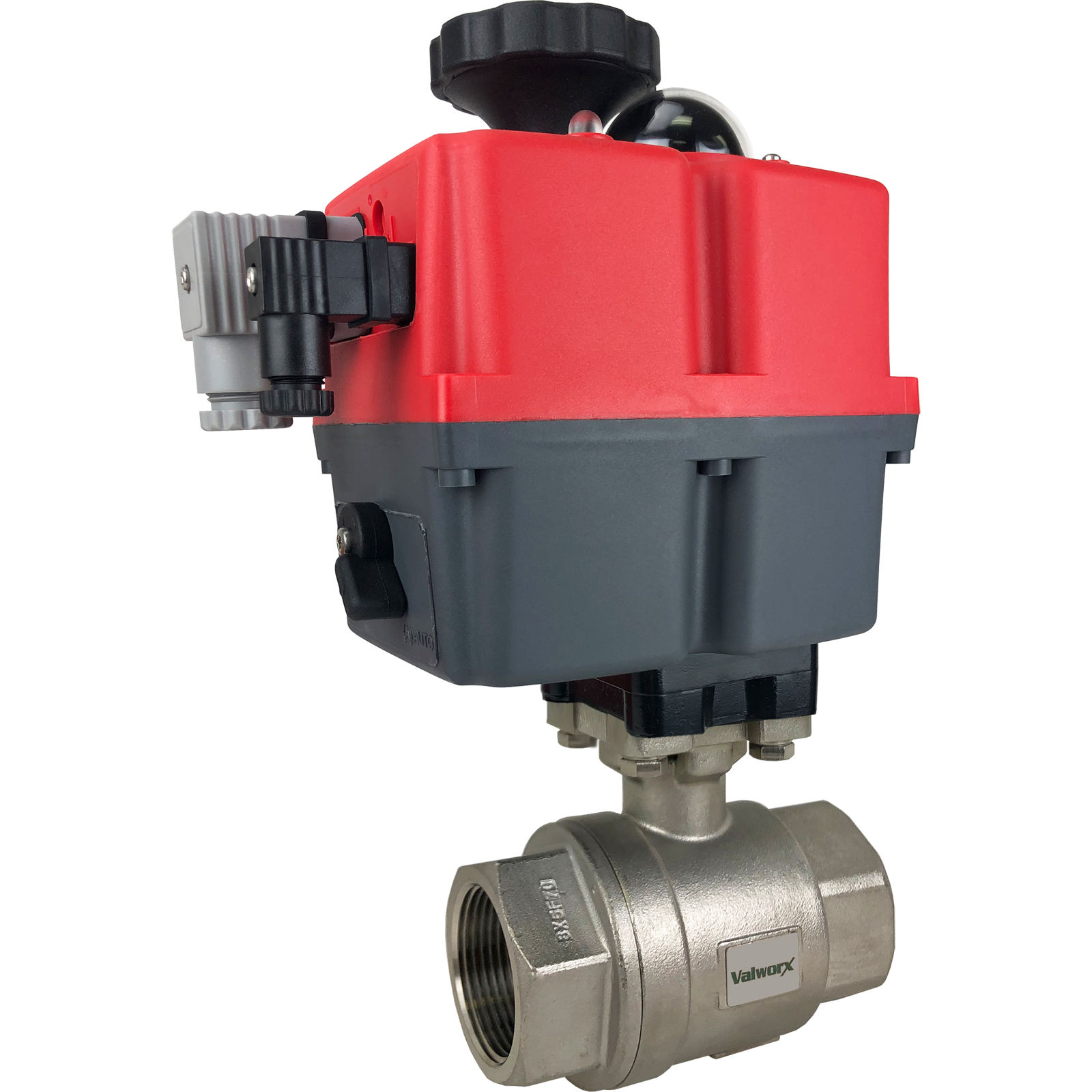 """1-1/4"""" Electric Actuated Stainless Ball Valve 24-240V"""