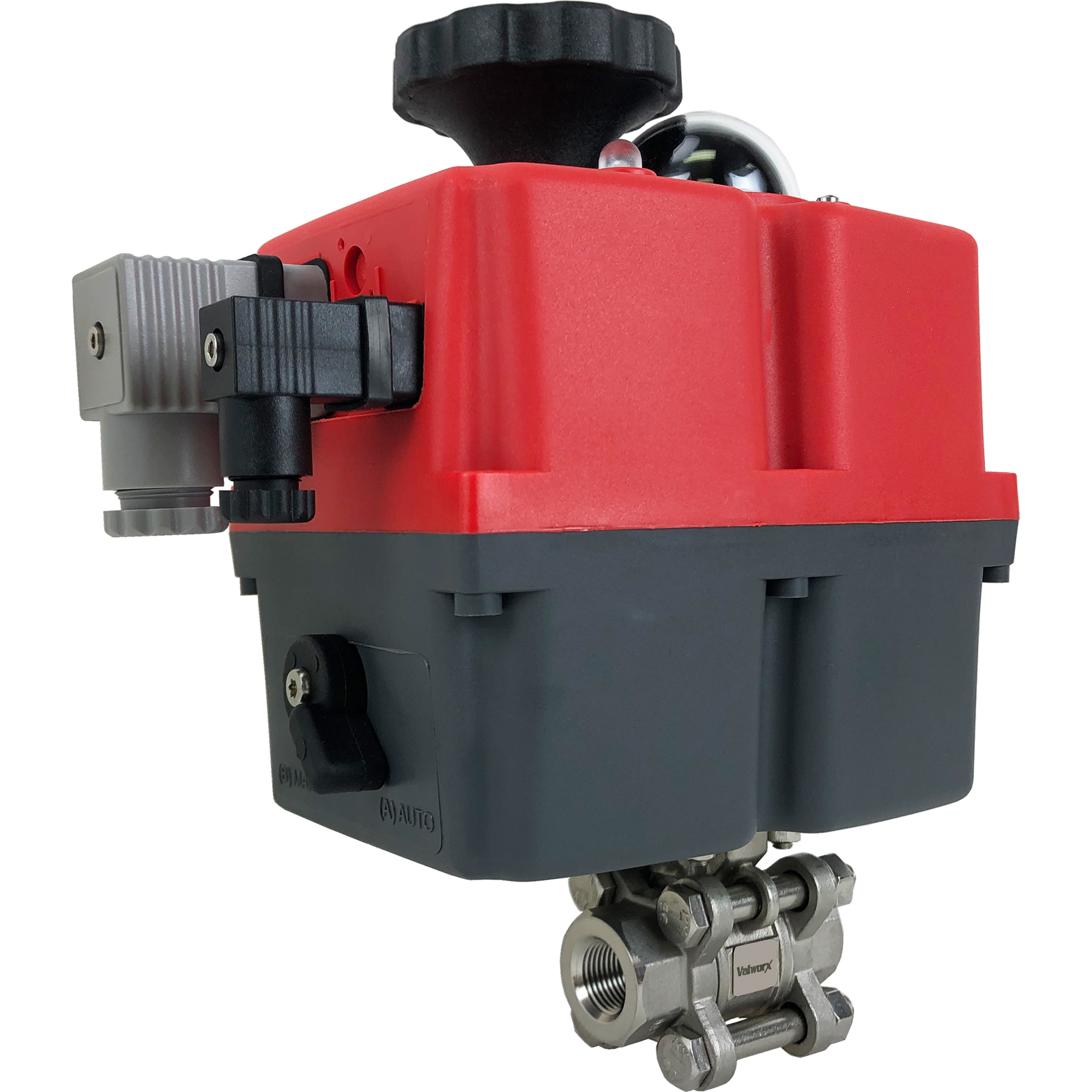 """3/8"""" Electric Actuated 3 pc SS Ball Valve 24-240V"""