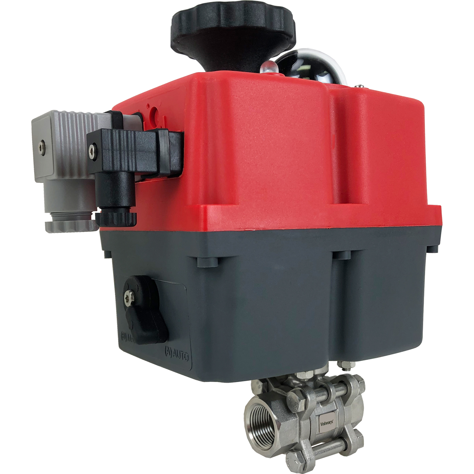 """3/4"""" Electric Actuated 3 pc SS Ball Valve 24-240V"""