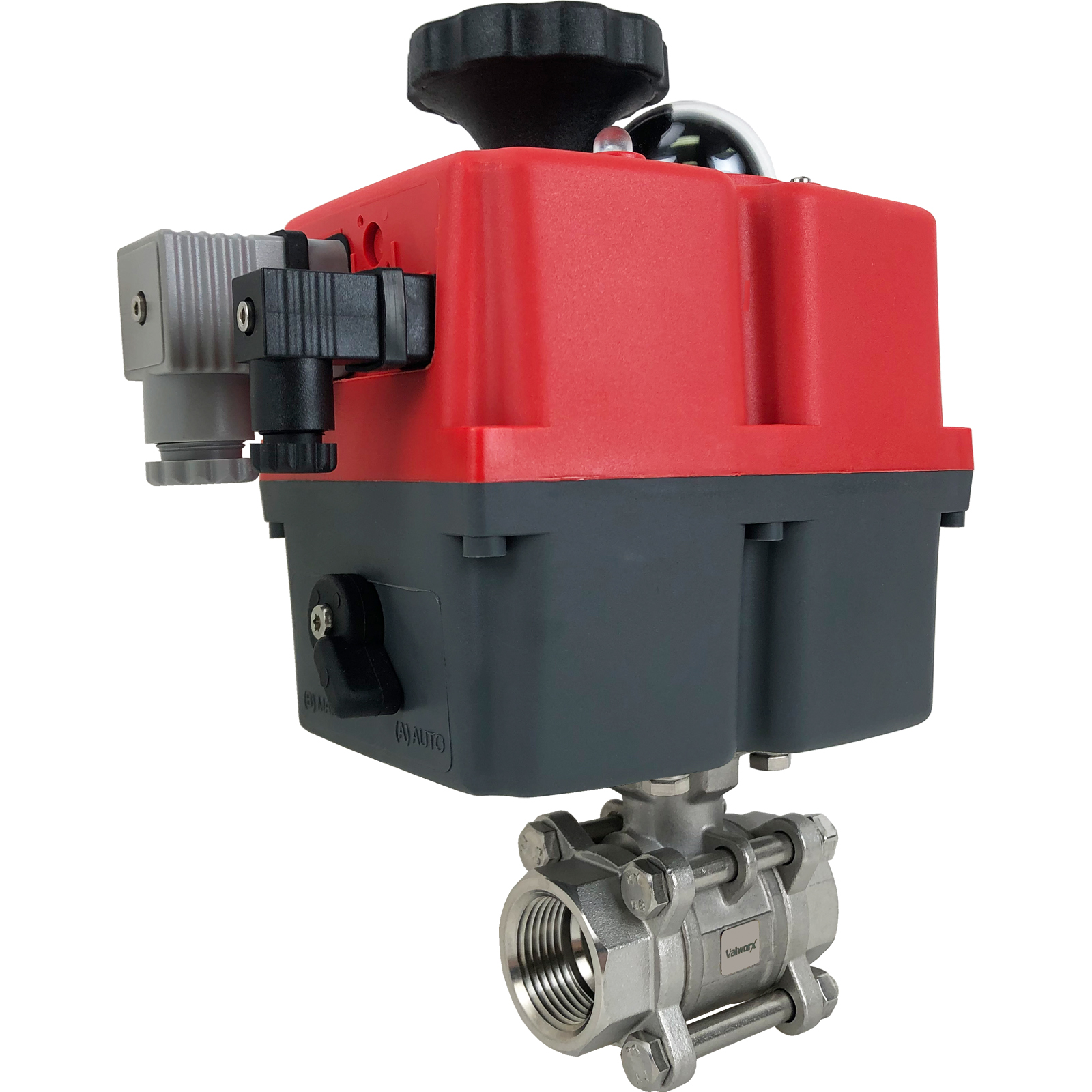 "1"" Electric Actuated 3 pc SS Ball Valve 24-240V"