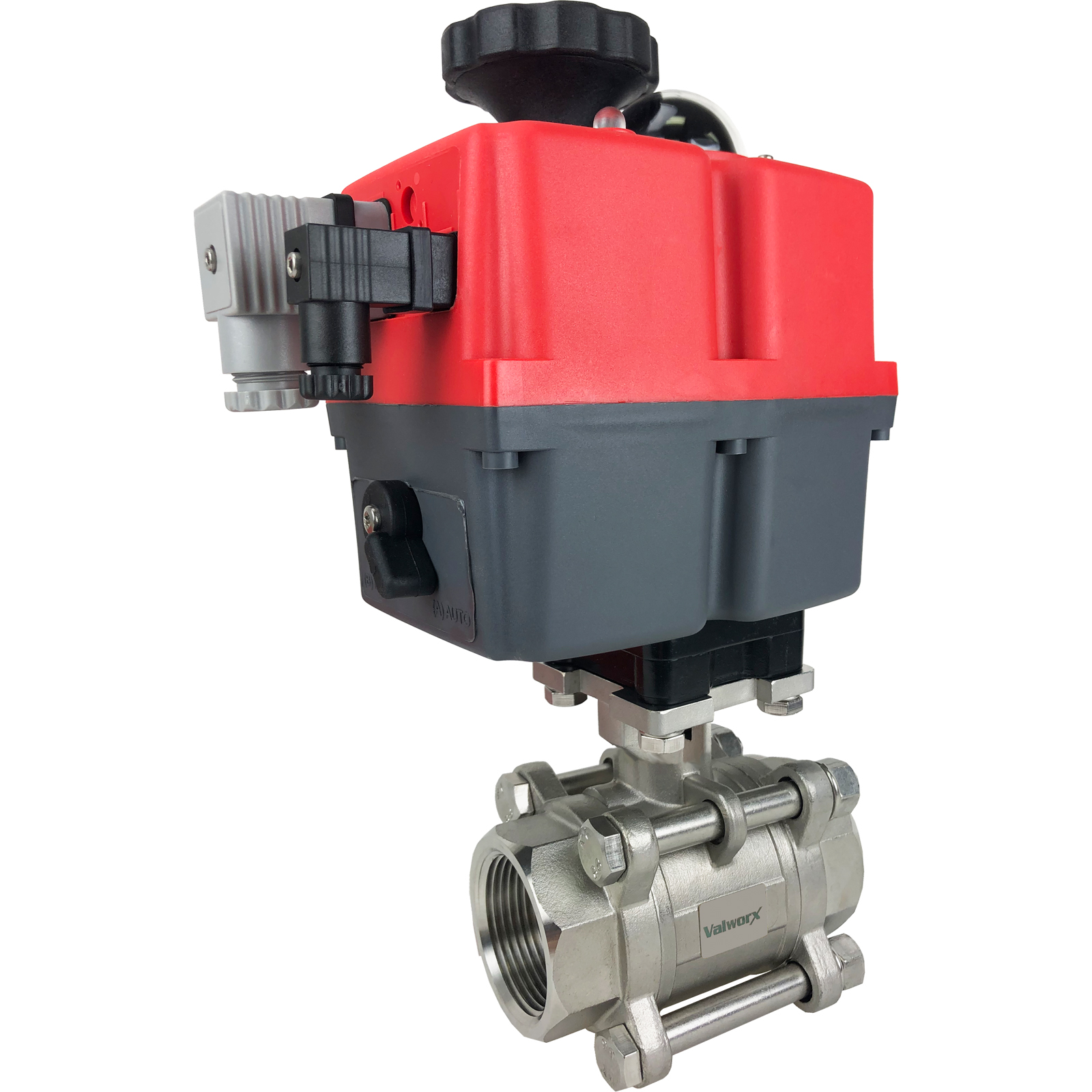 """1-1/4"""" Electric Actuated 3 pc SS Ball Valve 24-240V"""
