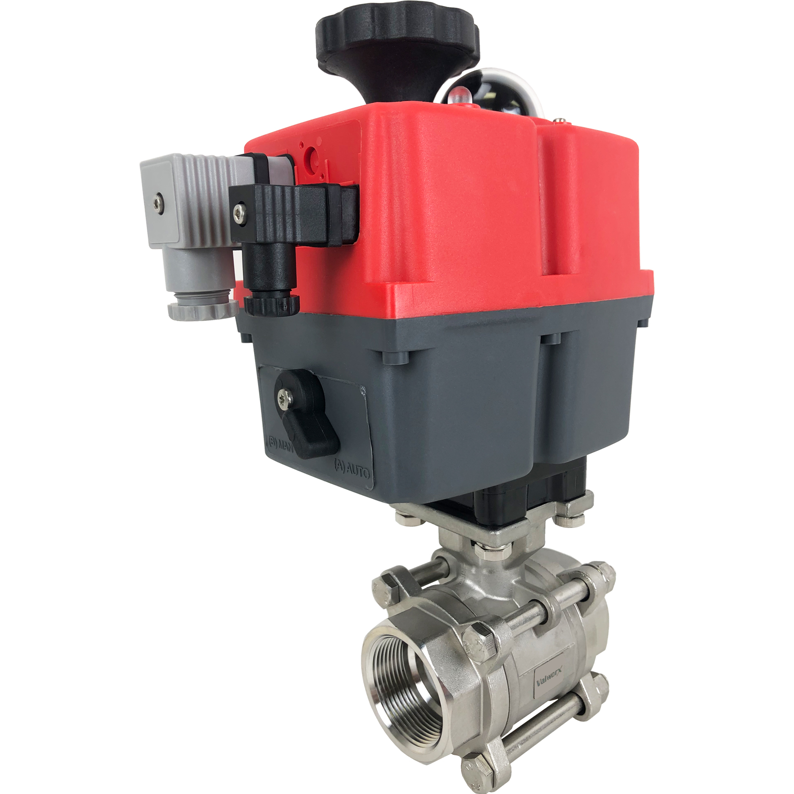 "1-1/2"" Electric Actuated 3 pc SS Ball Valve 24-240V"