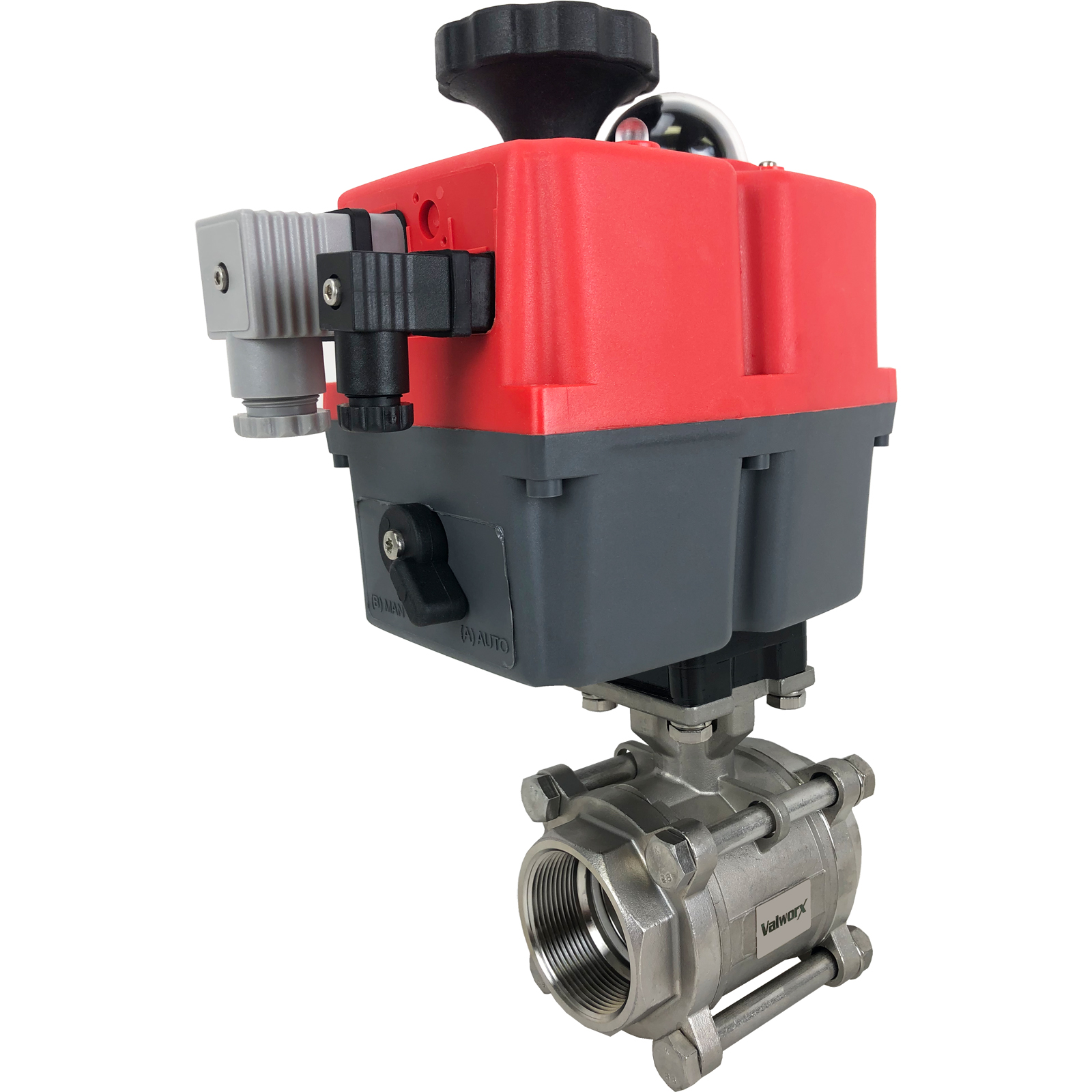 "2"" Electric Actuated 3 pc SS Ball Valve 24-240V"