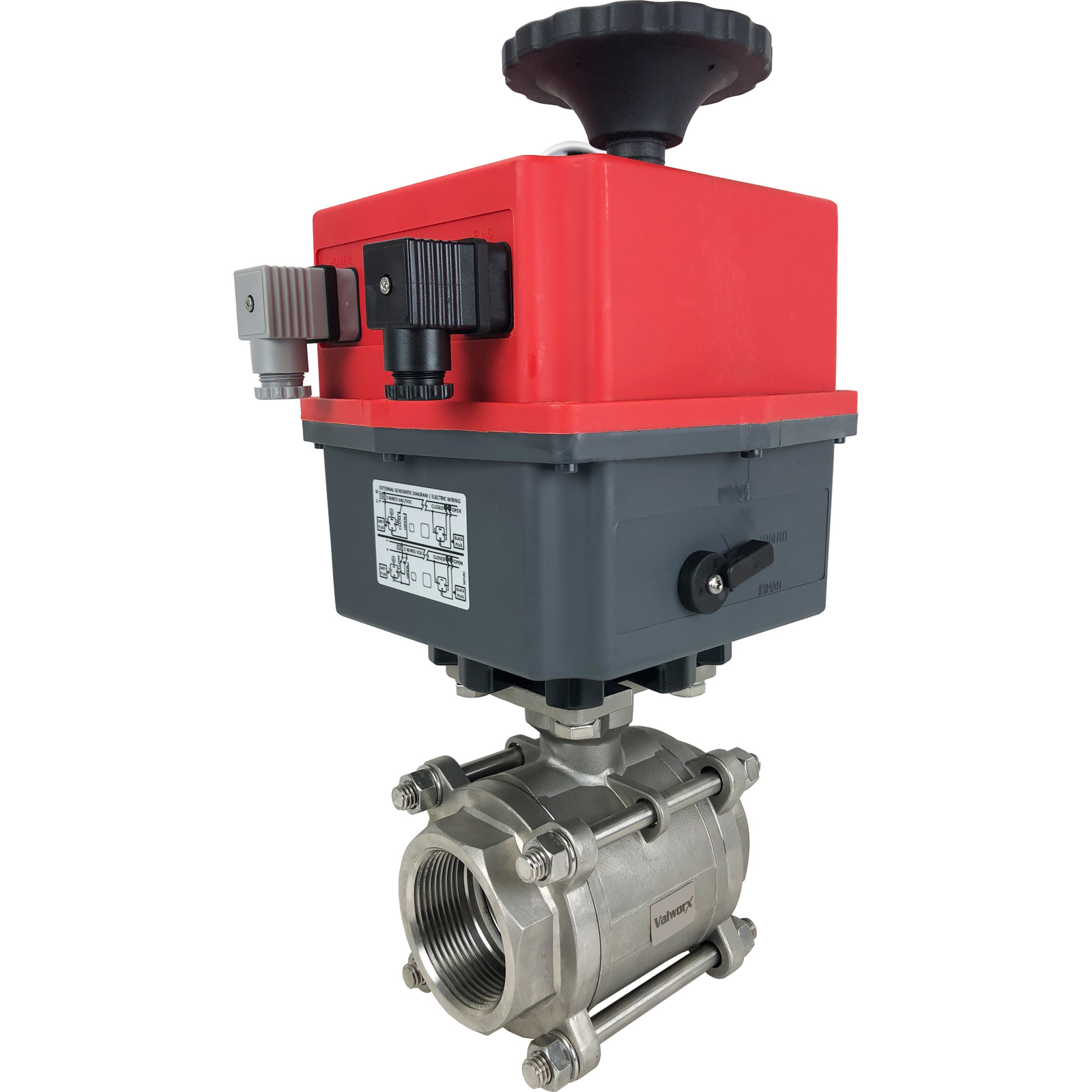 """2-1/2"""" Electric Actuated 3 pc SS Ball Valve 24-240V"""