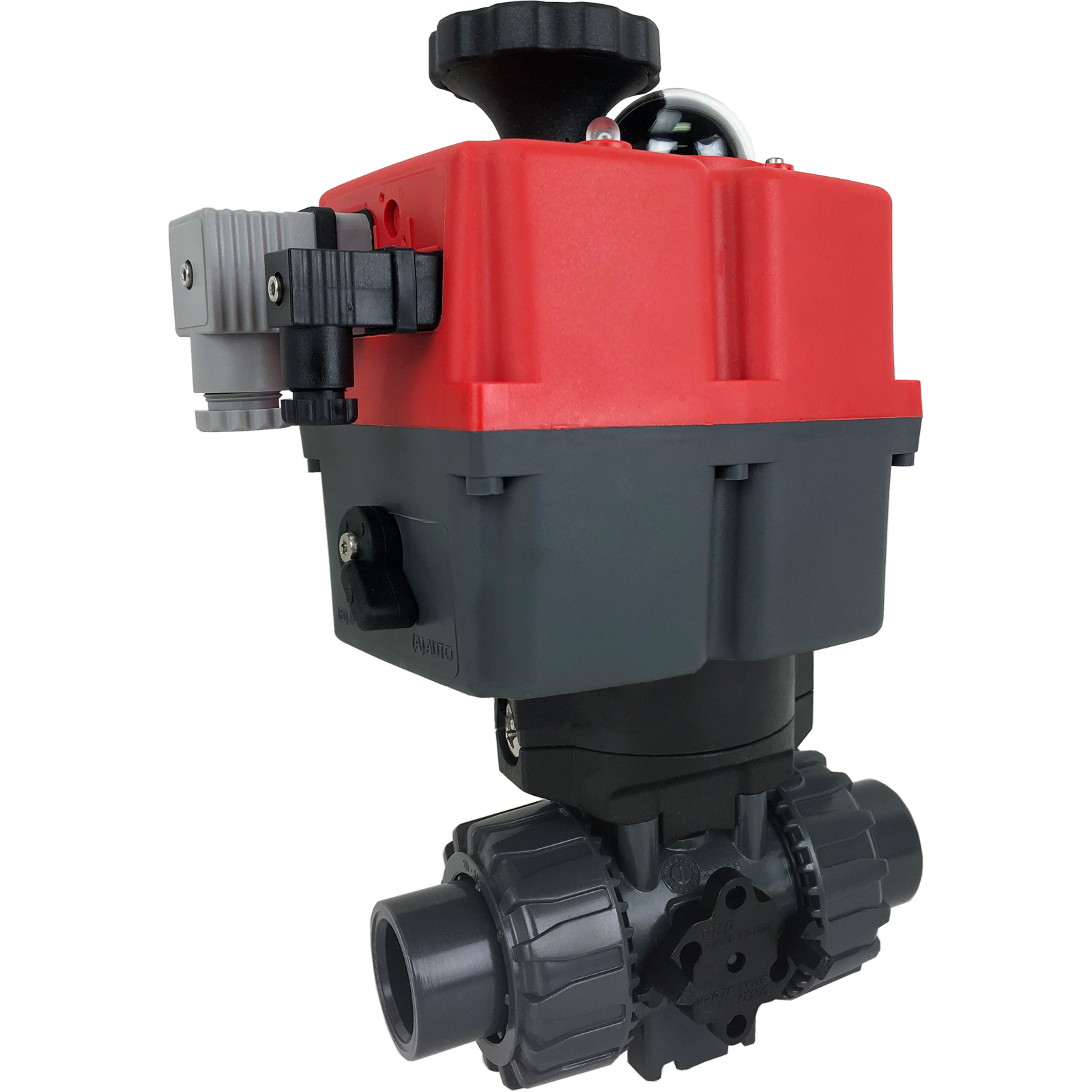 """1/2"""" Electric Actuated Ball Valve PVC/EPDM, 24-240V"""