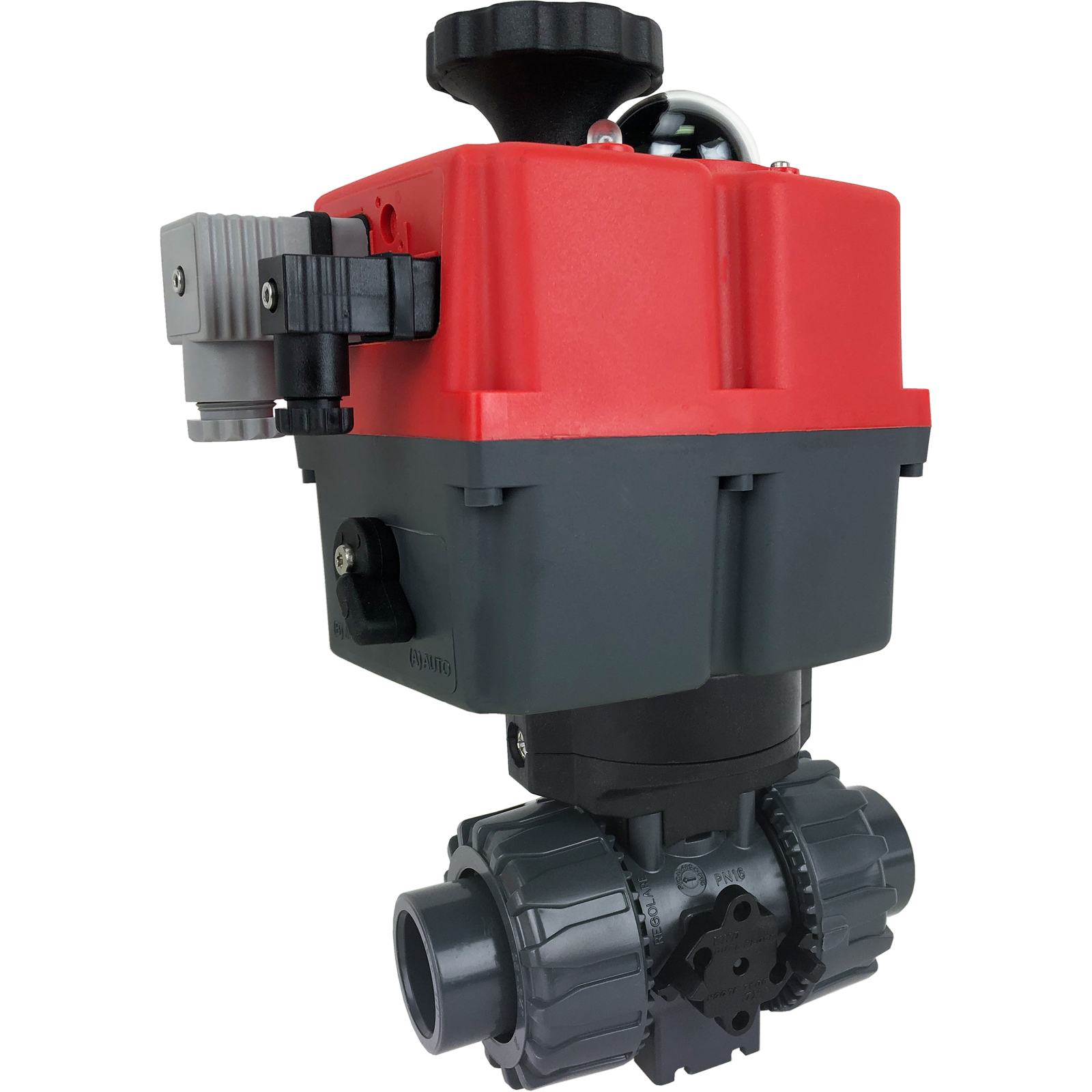 """3/4"""" Electric Actuated Ball Valve PVC/EPDM, 24-240V"""