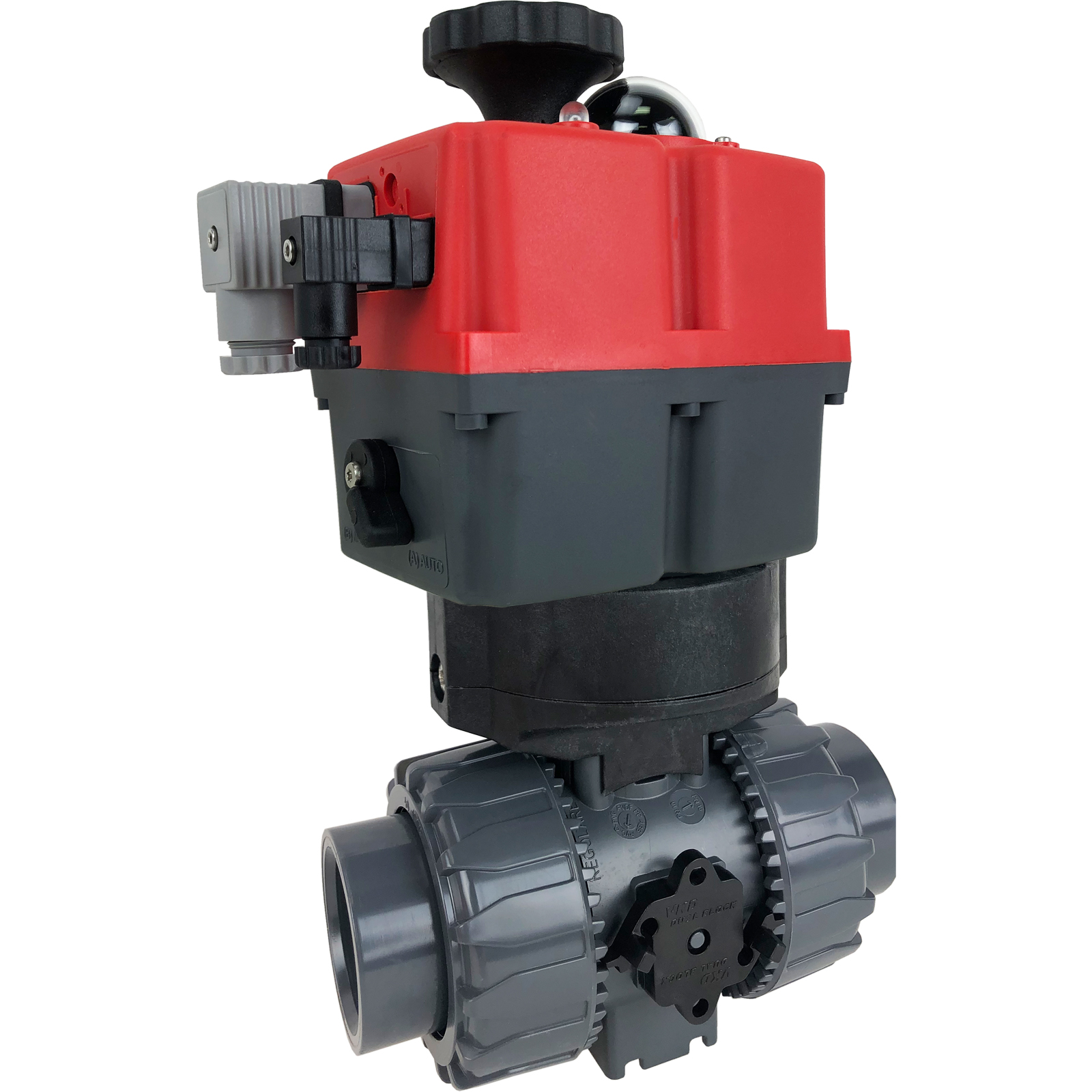 """1-1/4"""" Electric Actuated Ball Valve PVC/EPDM, 24-240V"""