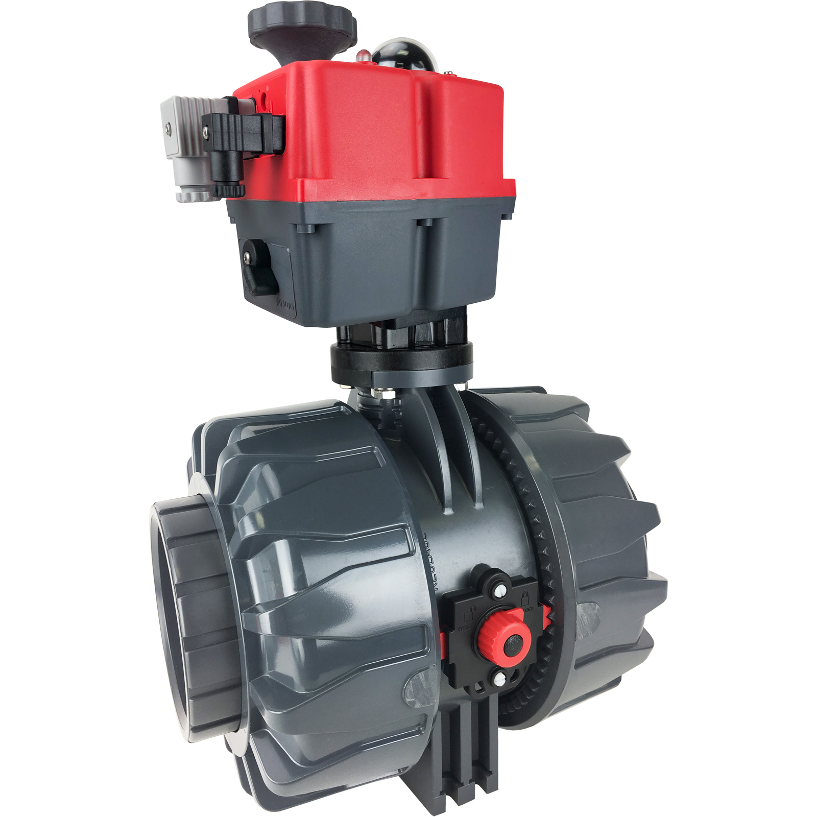 """4"""" Electric Actuated Ball Valve PVC/EPDM, 24-240V"""