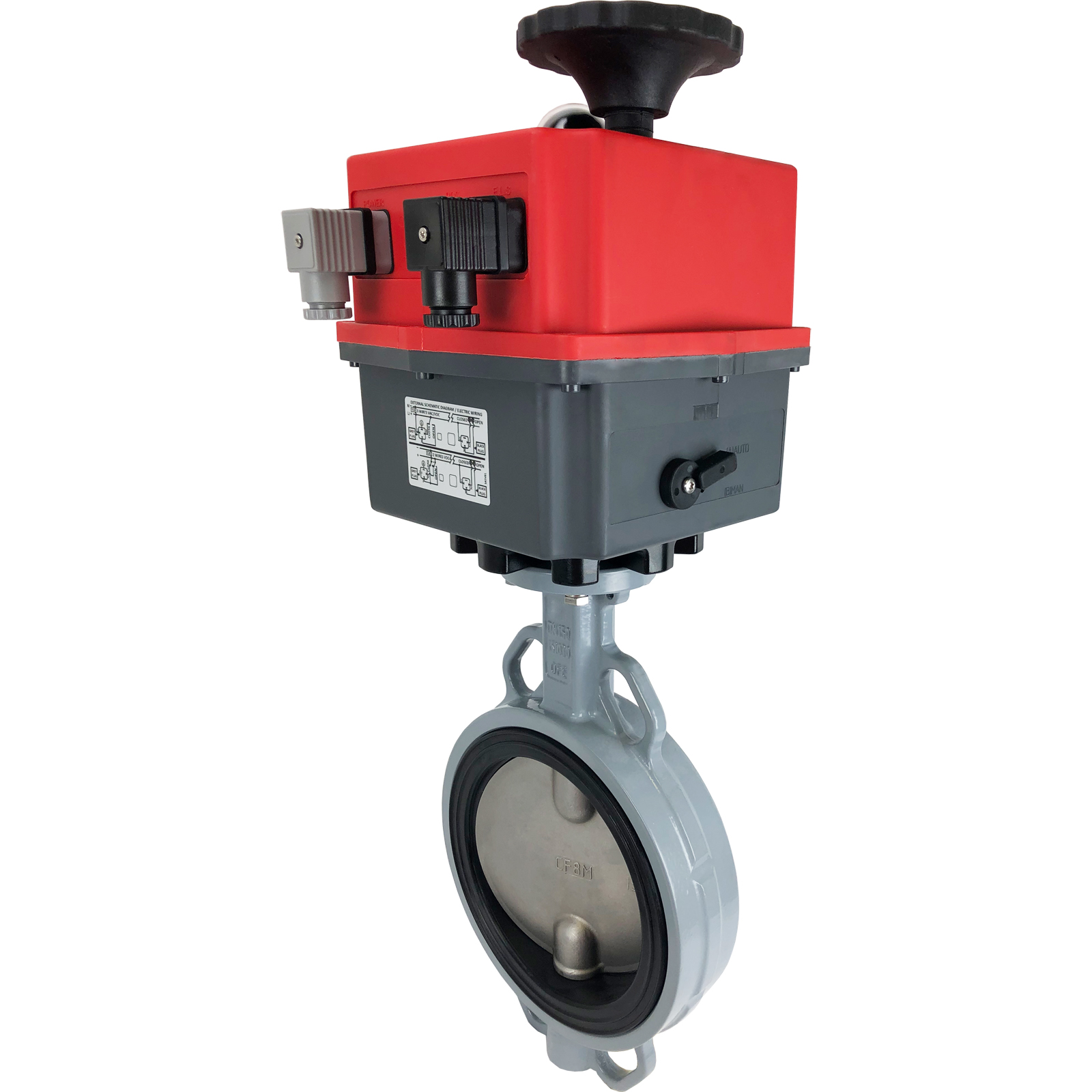 """6"""" Electric Actuated Butterfly Valve, Wafer, NBR, 24-240V"""