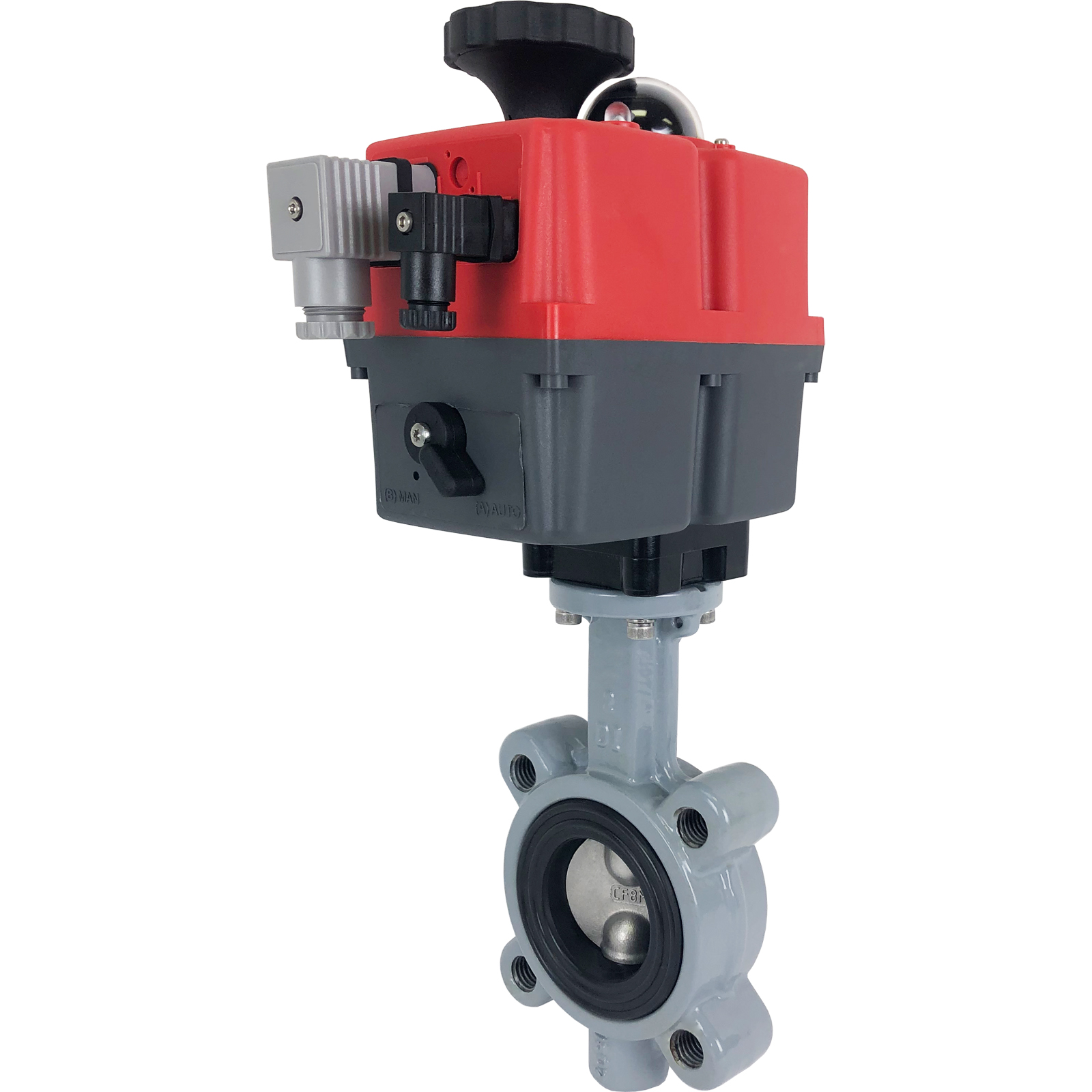 """2"""" Electric Actuated Butterfly Valve, Lug, FPM, 24-240V"""
