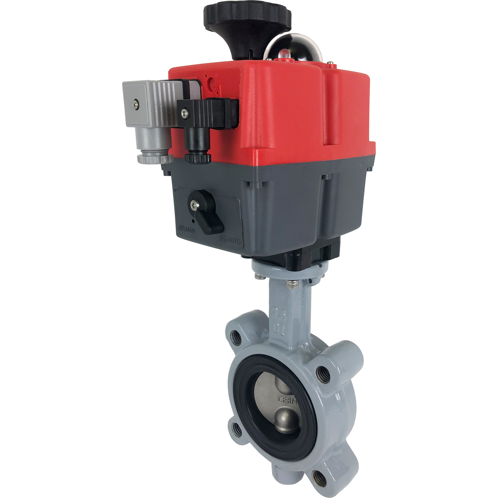 "2-1/2"" Electric Actuated Butterfly Valve, Lug, NBR, 24-240V"