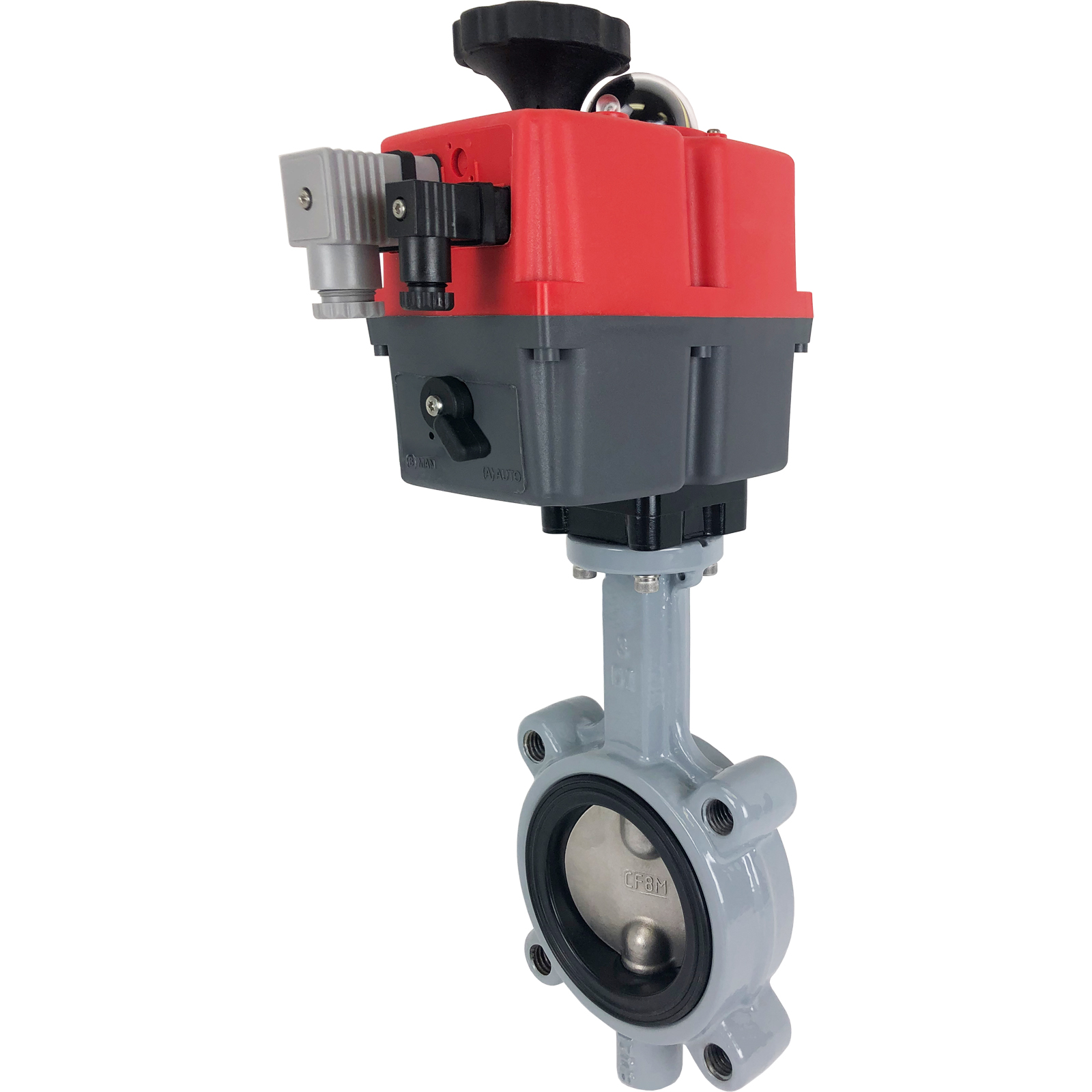 "3"" Electric Actuated Butterfly Valve, Lug, FPM, 24-240V"