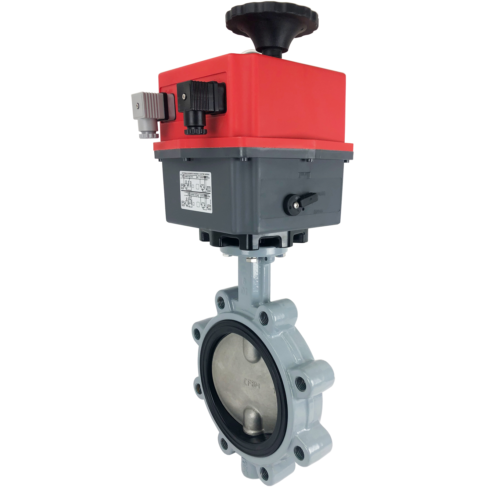 "6"" Electric Actuated Butterfly Valve, Lug, FPM, 24-240V"