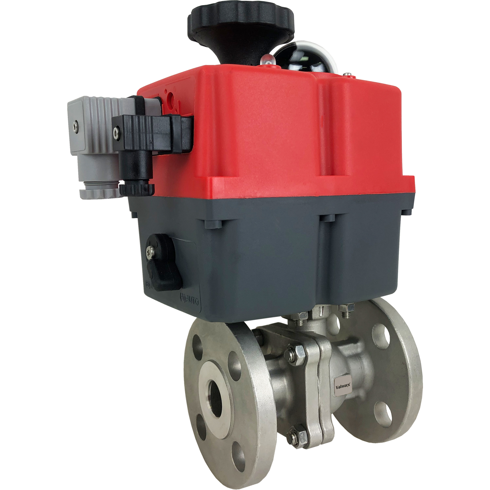 """1/2"""" Electric 150# Flanged SS Ball Valve, 24-240V"""