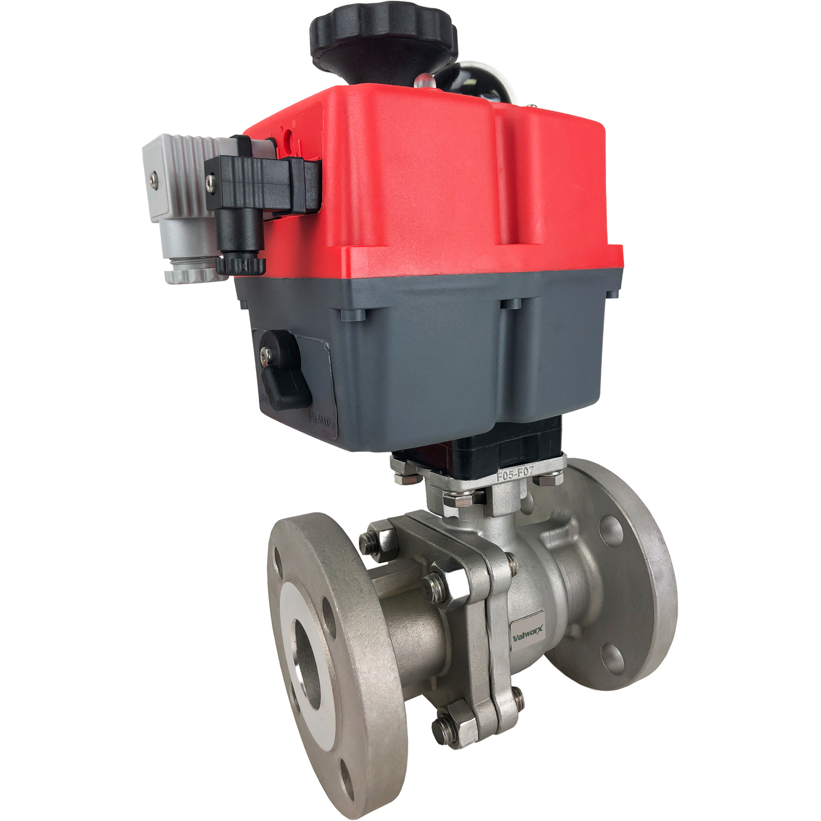"""1-1/2"""" Electric 150# Flanged SS Ball Valve, 24-240V"""