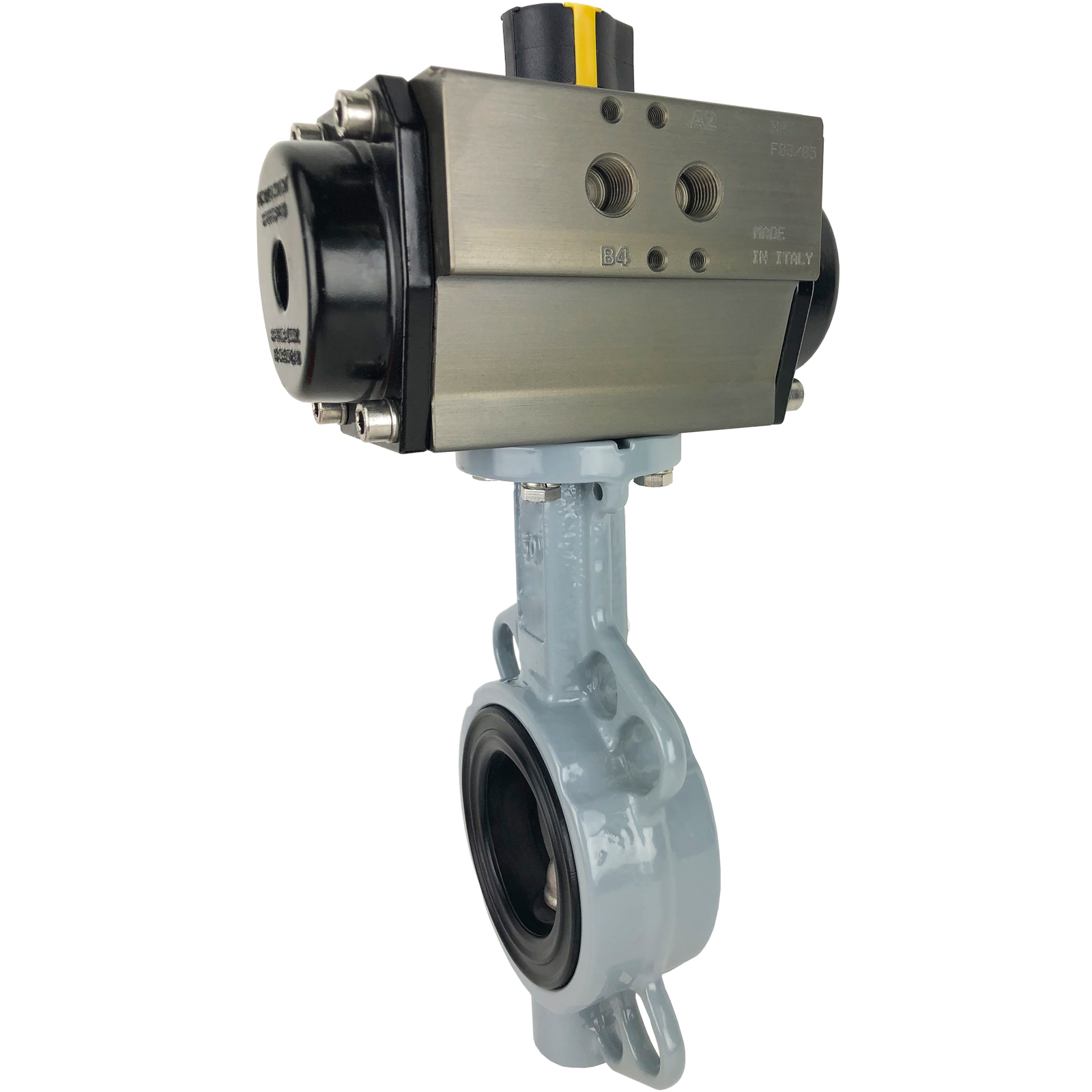 """2-1/2"""" Air Actuated Butterfly Valve, Wafer, EPDM, Double Acting"""
