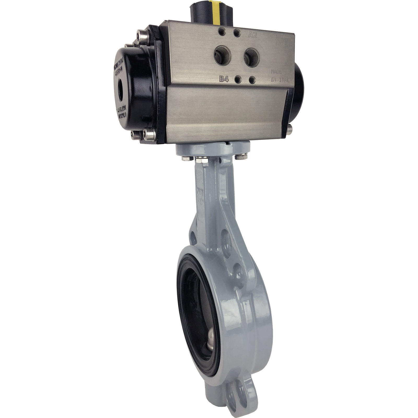 "3"" Air Actuated Butterfly Valve, Wafer, EPDM, Double Acting"