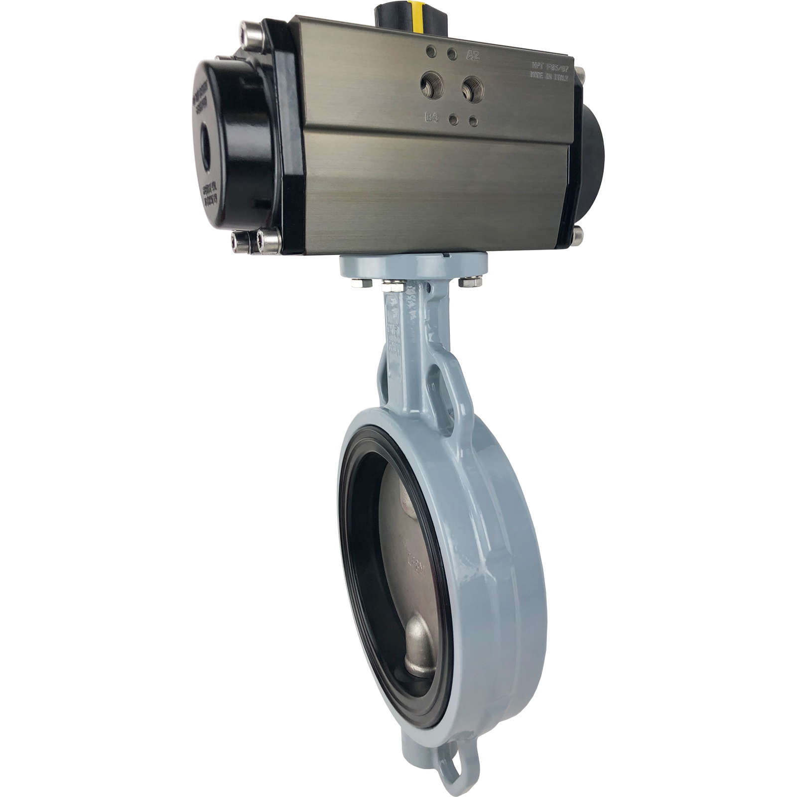 "6"" Air Actuated Butterfly Valve, Wafer, EPDM, Spring Return"