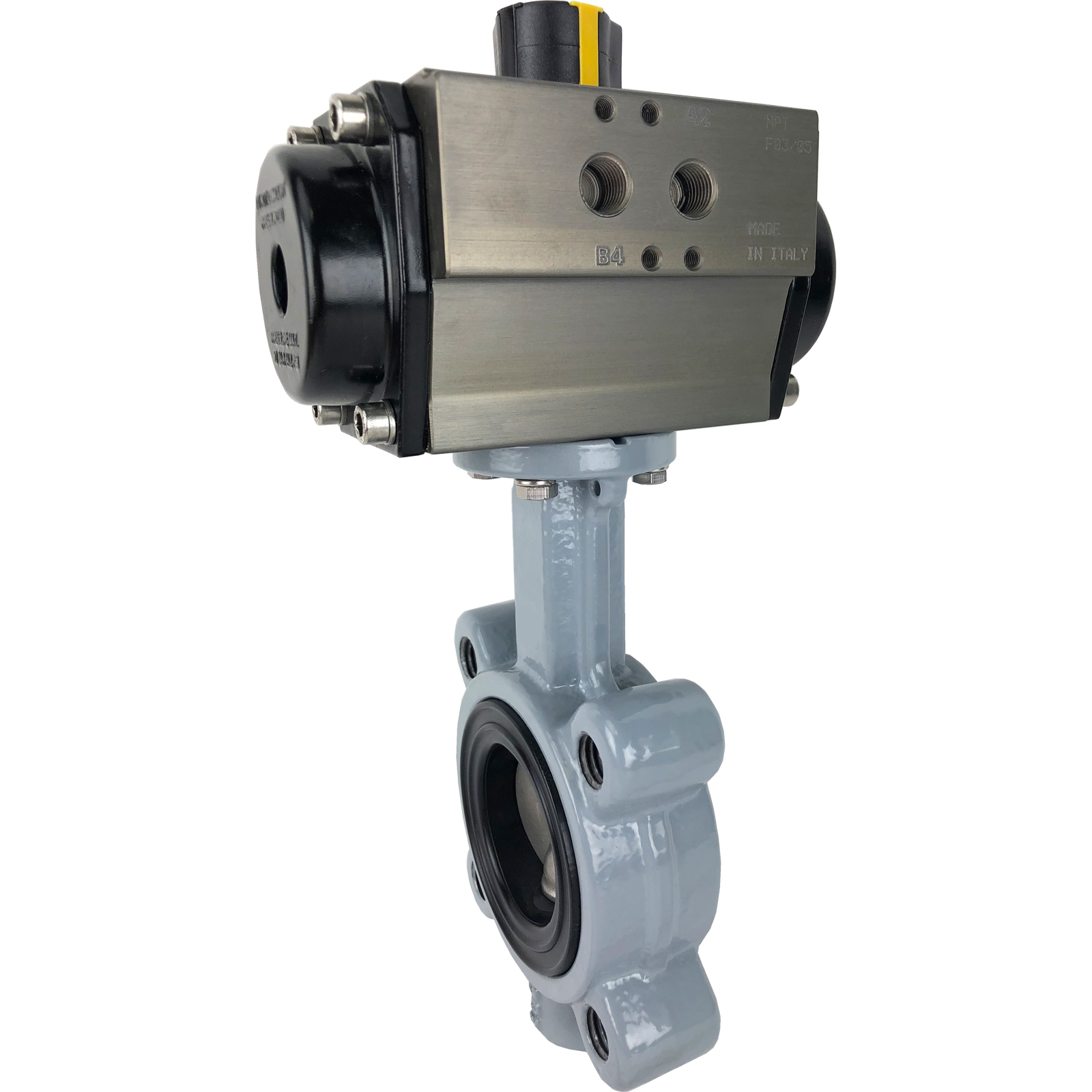 """2-1/2"""" Air Actuated Butterfly Valve, Lug, EPDM, Double Acting"""