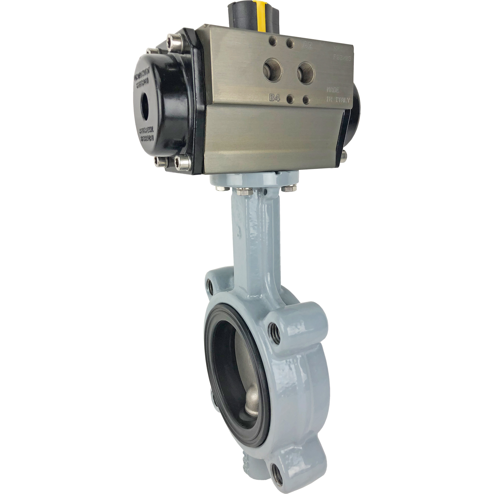 """3"""" Air Actuated Butterfly Valve, Lug, NBR, Double Acting"""