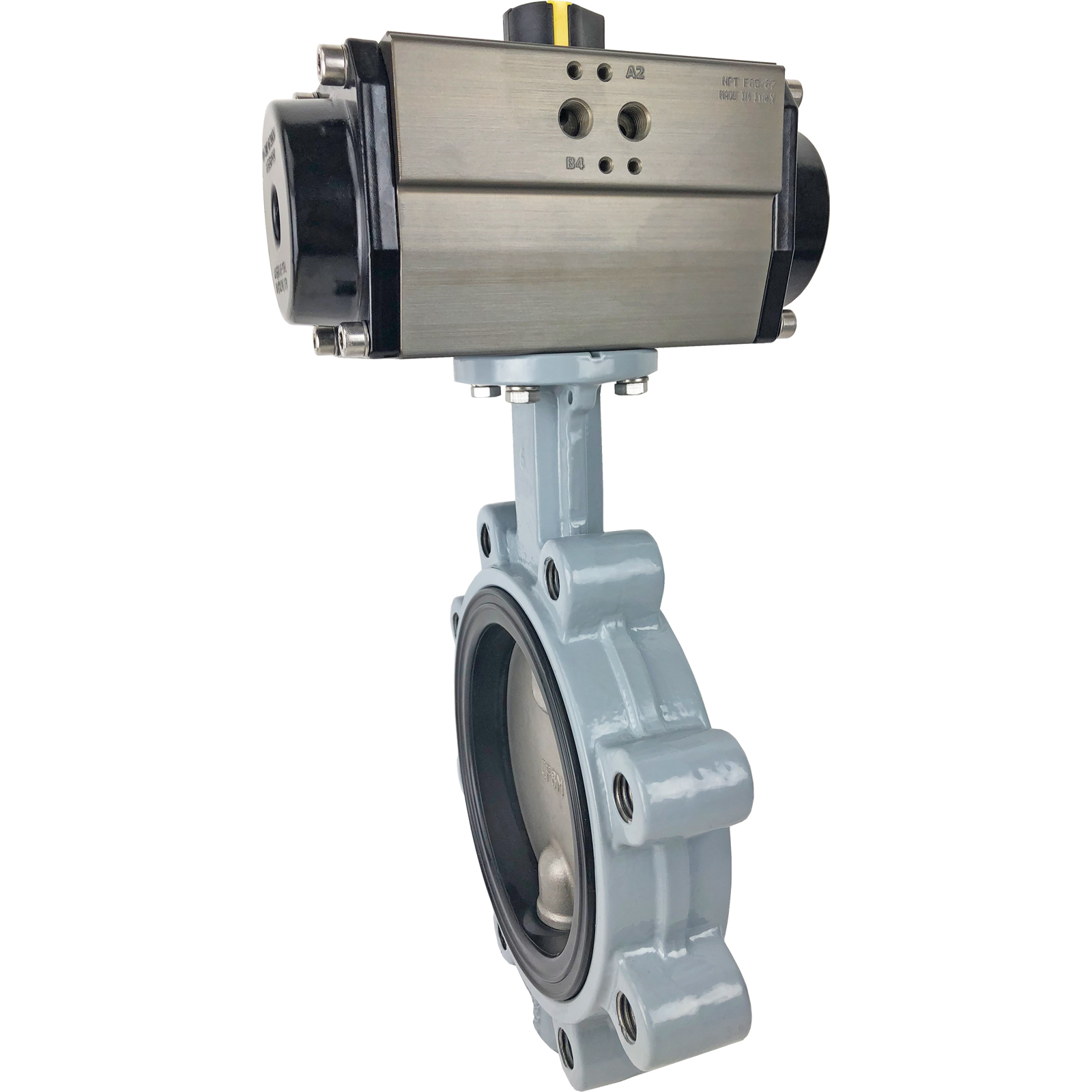 """6"""" Air Actuated Butterfly Valve, Lug, NBR, Double Acting"""