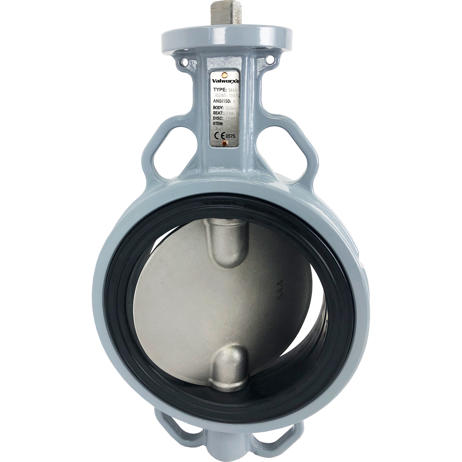 "Direct Mount 6"" Butterfly Valve Wafer EPDM"