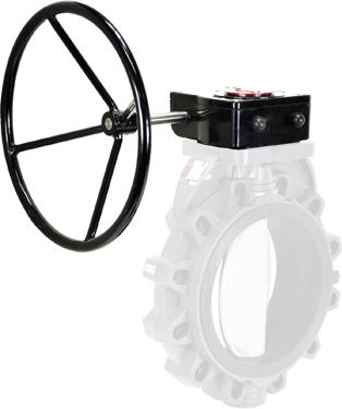 """Gear Operator Handwheel 10- 12"""" PVC Butterfly"""