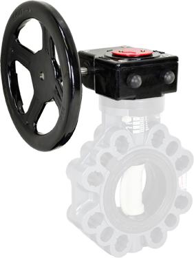 """Gear Operator Handwheel 3-4"""" PVC Butterfly"""