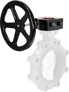 """Gear Operator Handwheel 8"""" PVC Butterfly"""