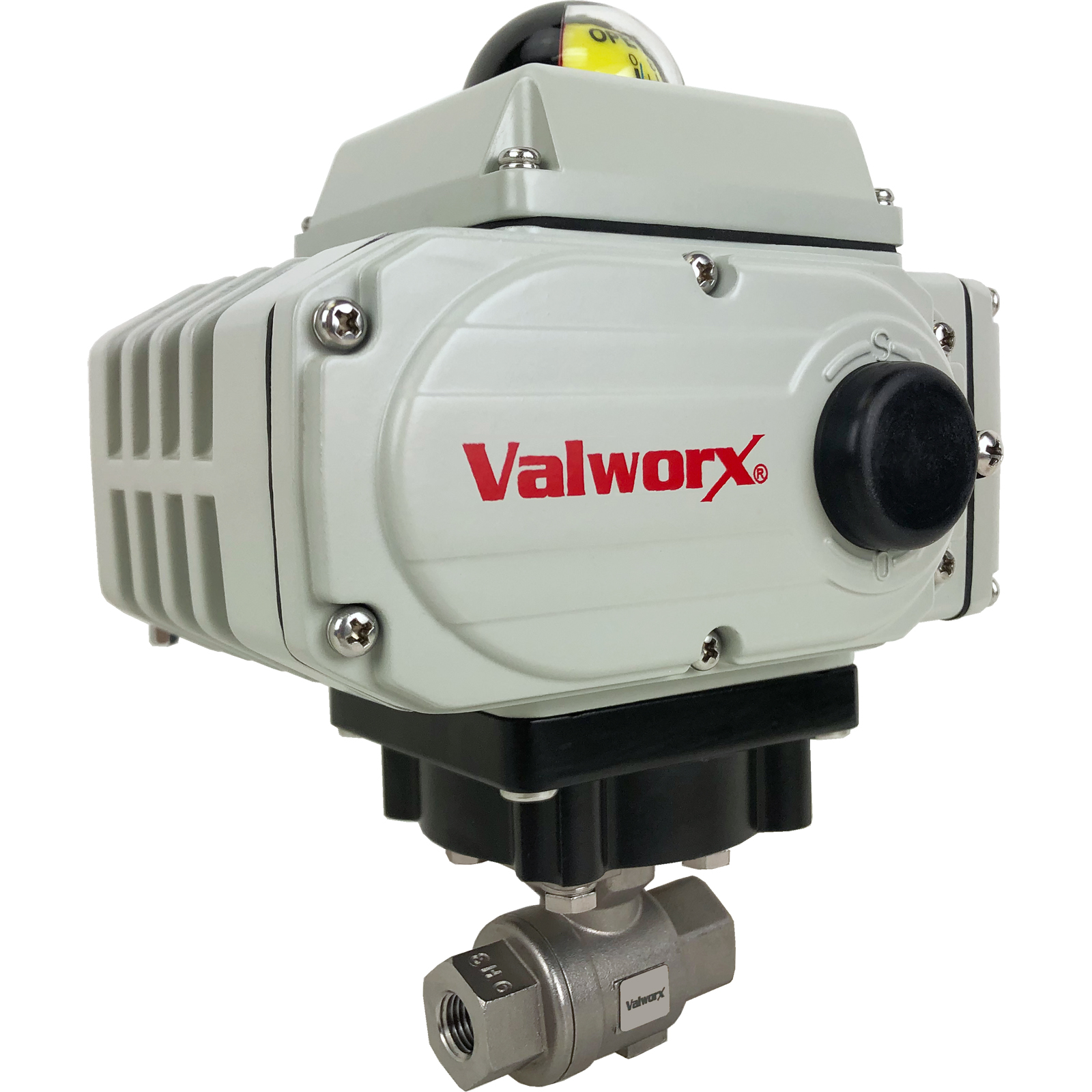 """1/4"""" Electric Actuated Stainless Ball Valve 110 VAC"""