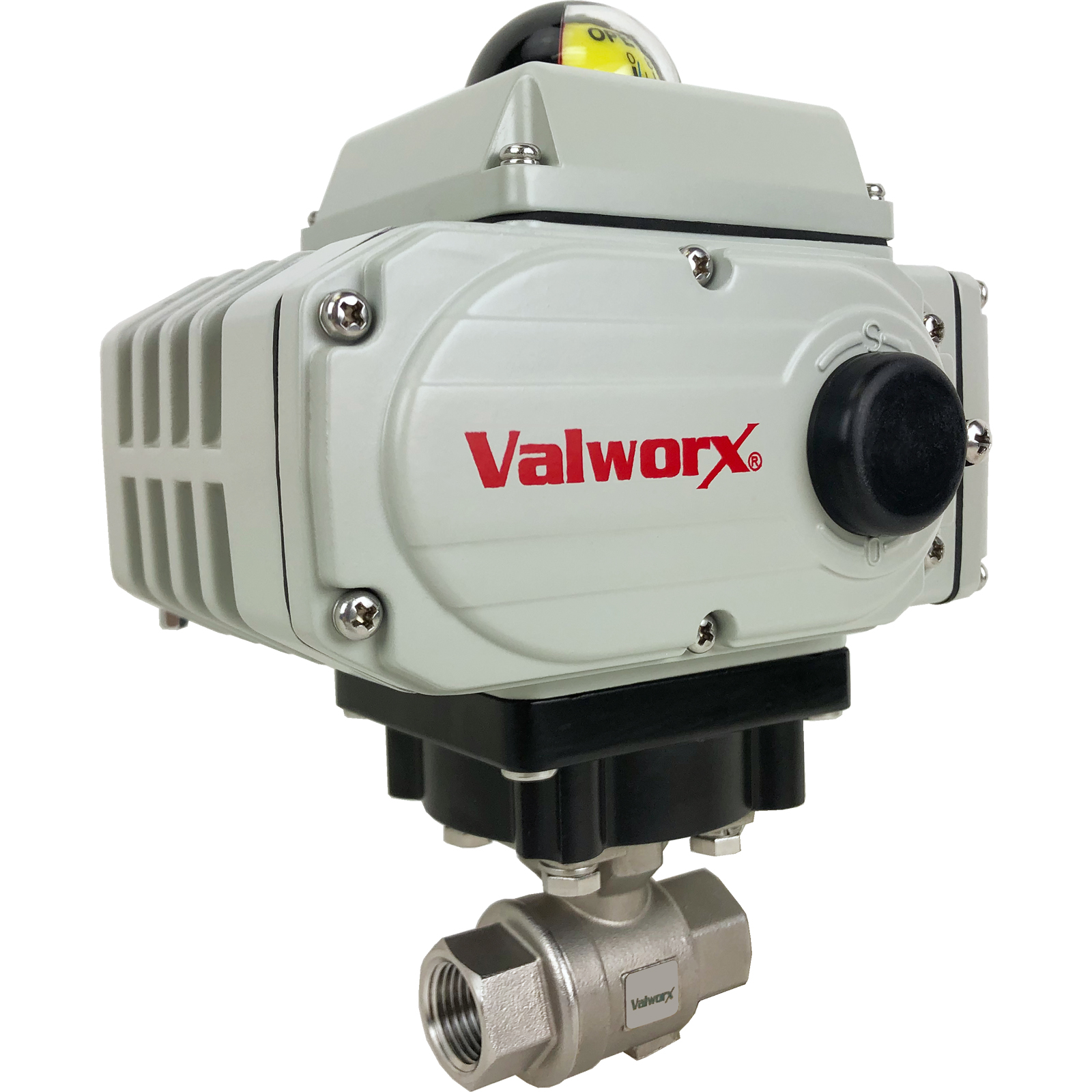 """1/2"""" Electric Actuated Stainless Ball Valve 24 VDC, EPS Positioner"""