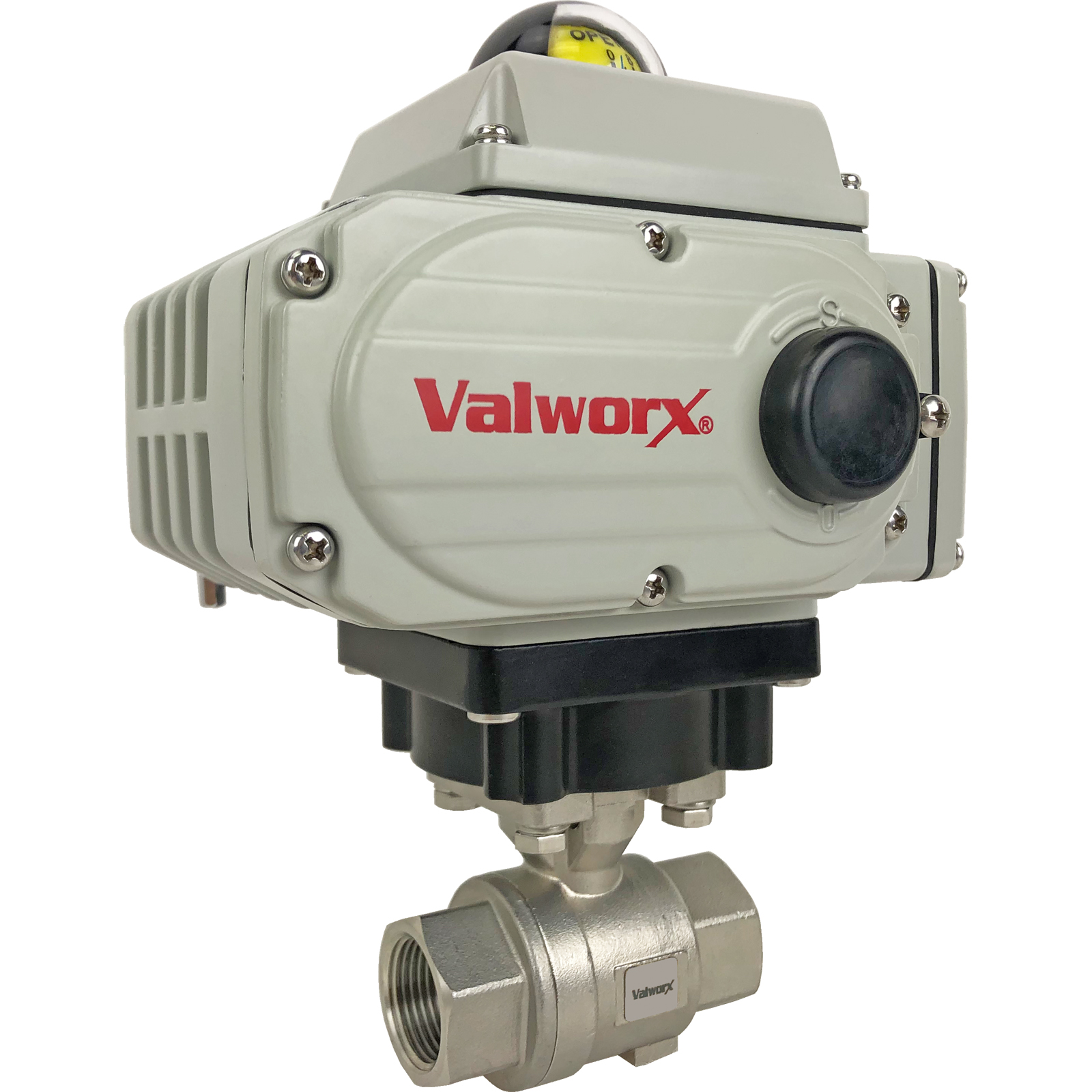"""3/4"""" Electric Actuated Stainless Ball Valve 110 VAC, EPS Positioner"""