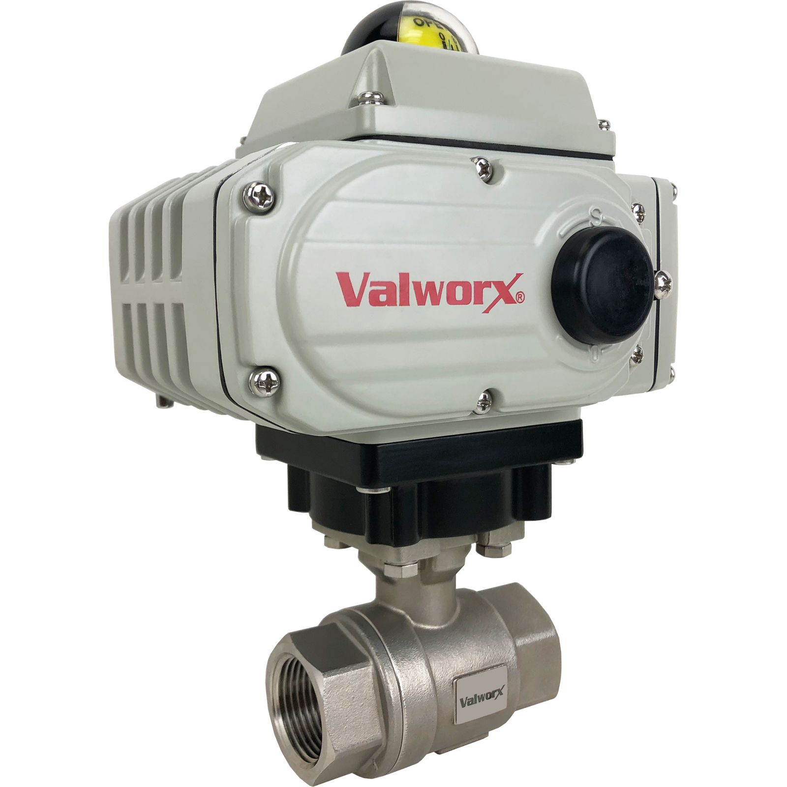 """1"""" Electric Actuated Stainless Ball Valve 110 VAC, EPS Positioner"""