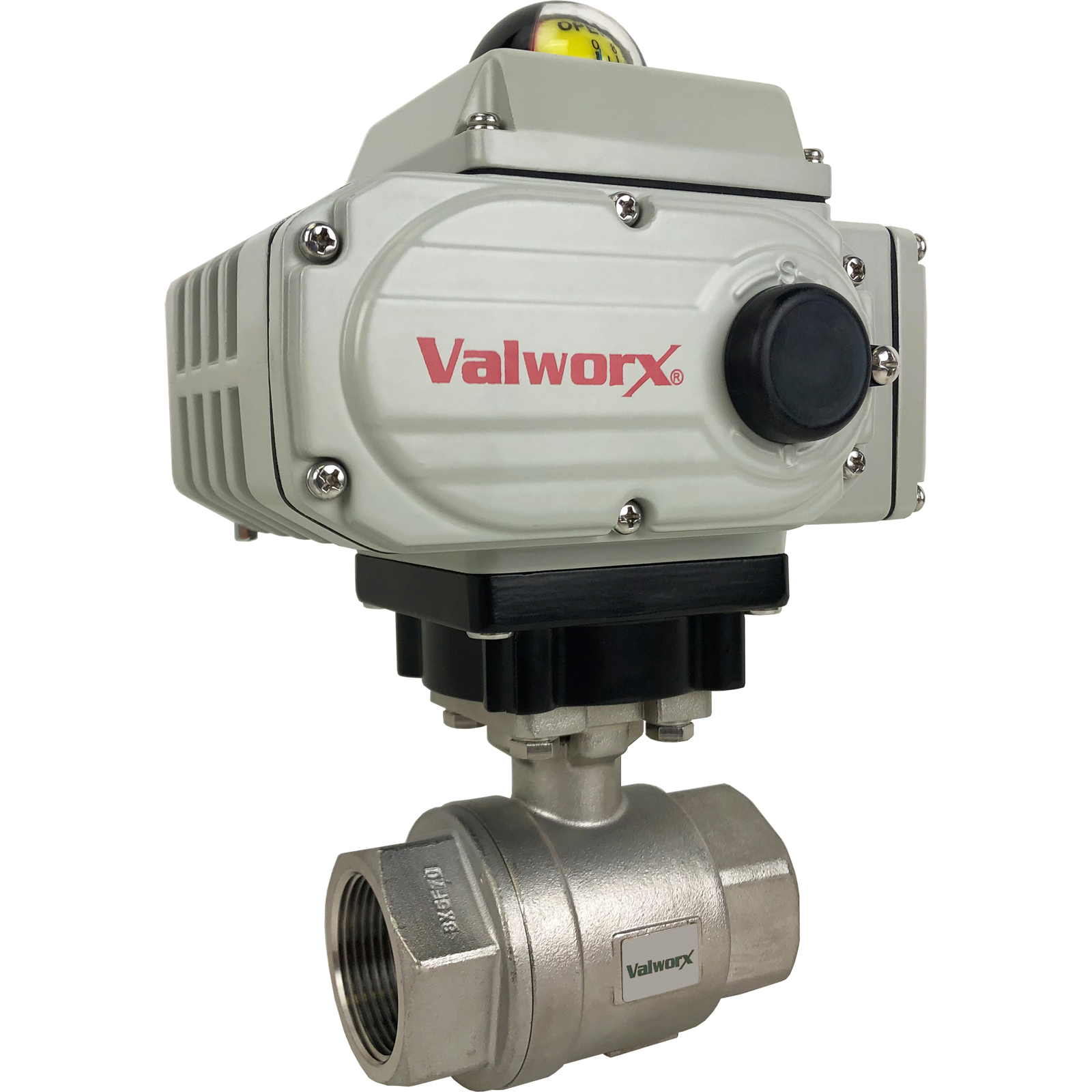 """1-1/4"""" Electric Actuated Stainless Ball Valve 110 VAC"""