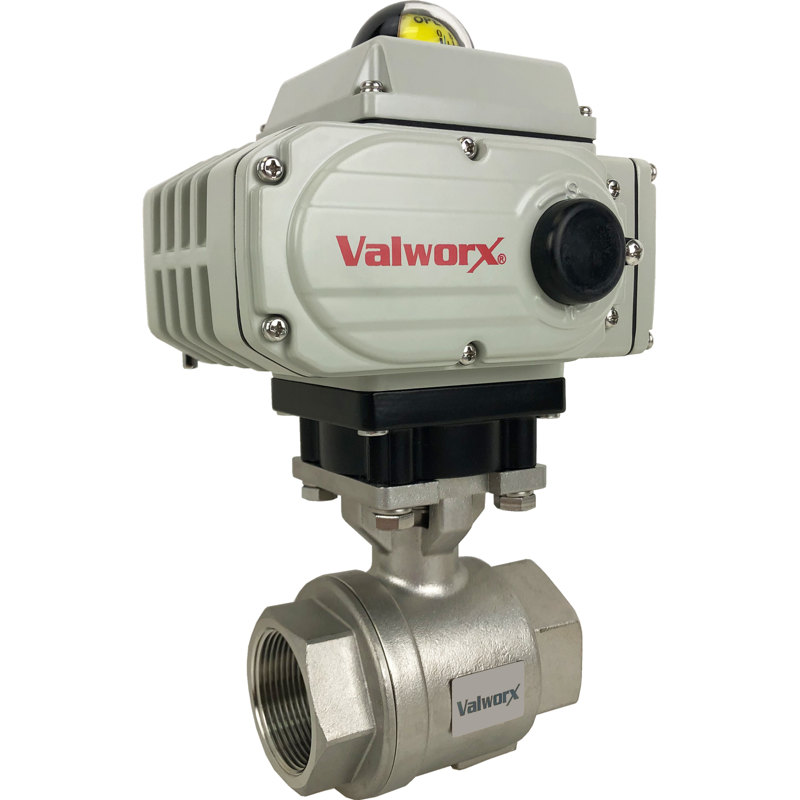 """1-1/2"""" Electric Actuated Stainless Ball Valve 110 VAC, EPS Positioner"""
