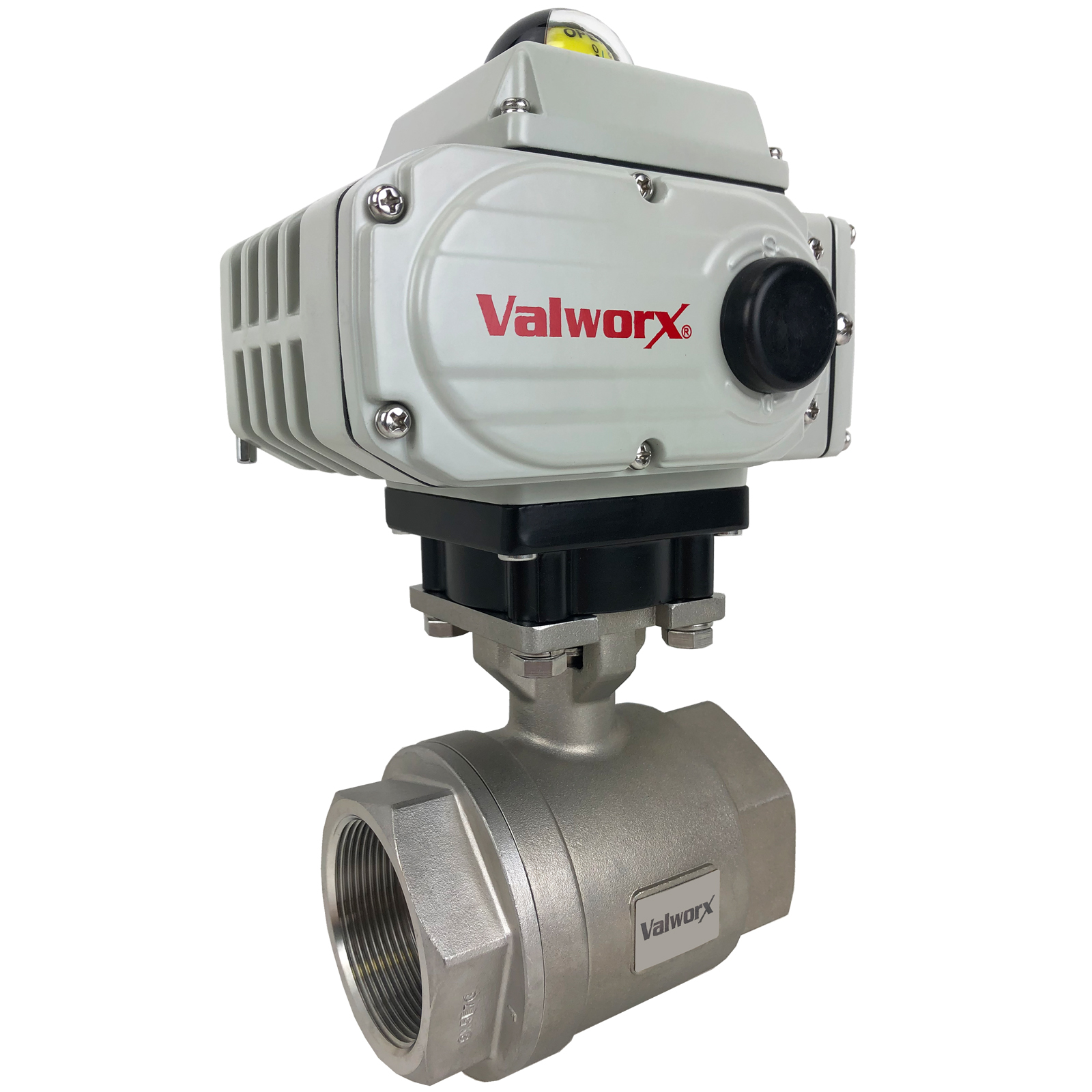 """2"""" Electric Actuated Stainless Ball Valve 110 VAC, EPS Positioner"""