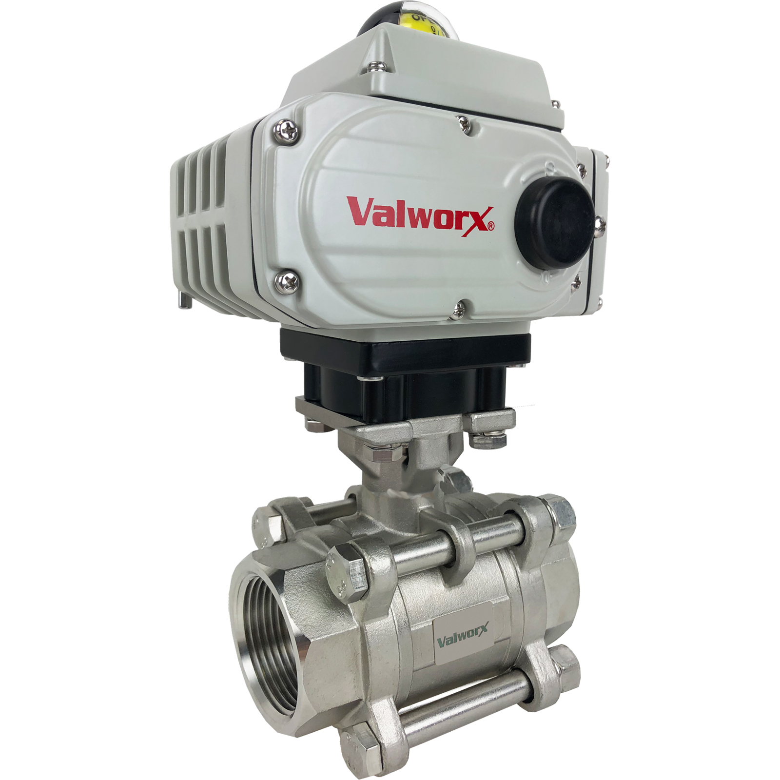 """2"""" Electric Actuated 3 pc SS Ball Valve 24 VDC"""